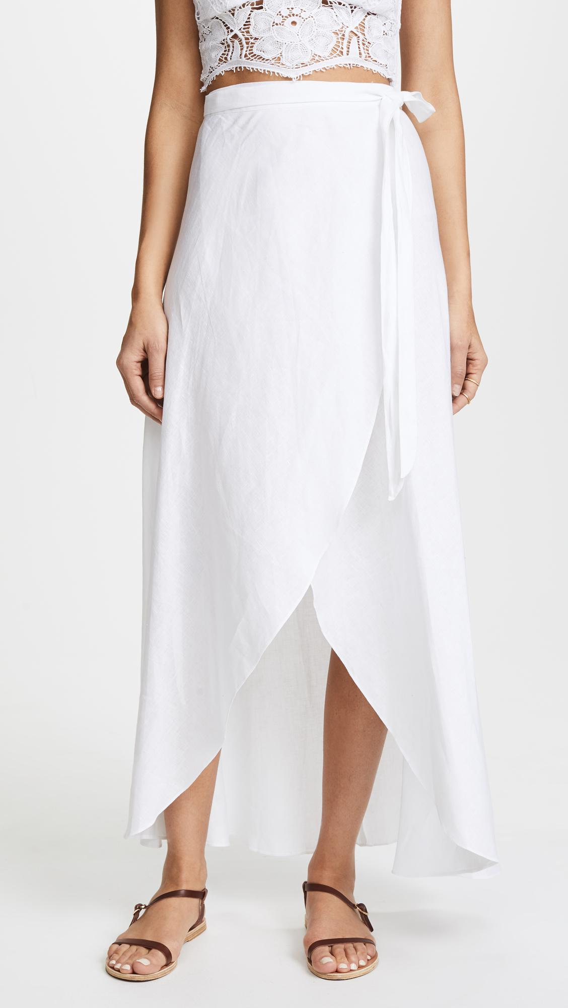 da24a6f3b2d Lyst - Miguelina Ballerina Skirt in White