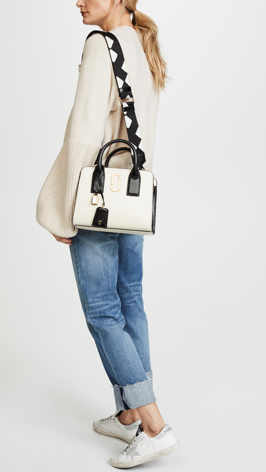 494e8fca64 Lyst - Marc Jacobs Little Big Shot Satchel in White