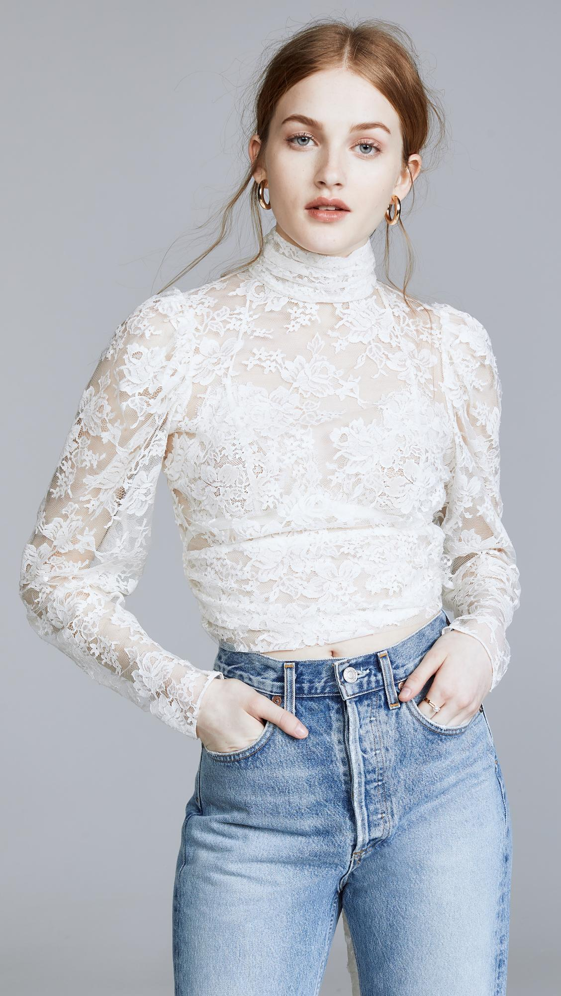 4f0cb438ea8ff5 Lyst - Magda Butrym Noto Blouse in White