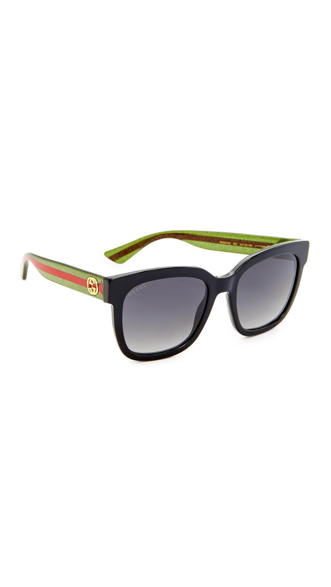 212b31d118e Gucci - Multicolor Urban Pop Square Sunglasses - Lyst. View fullscreen