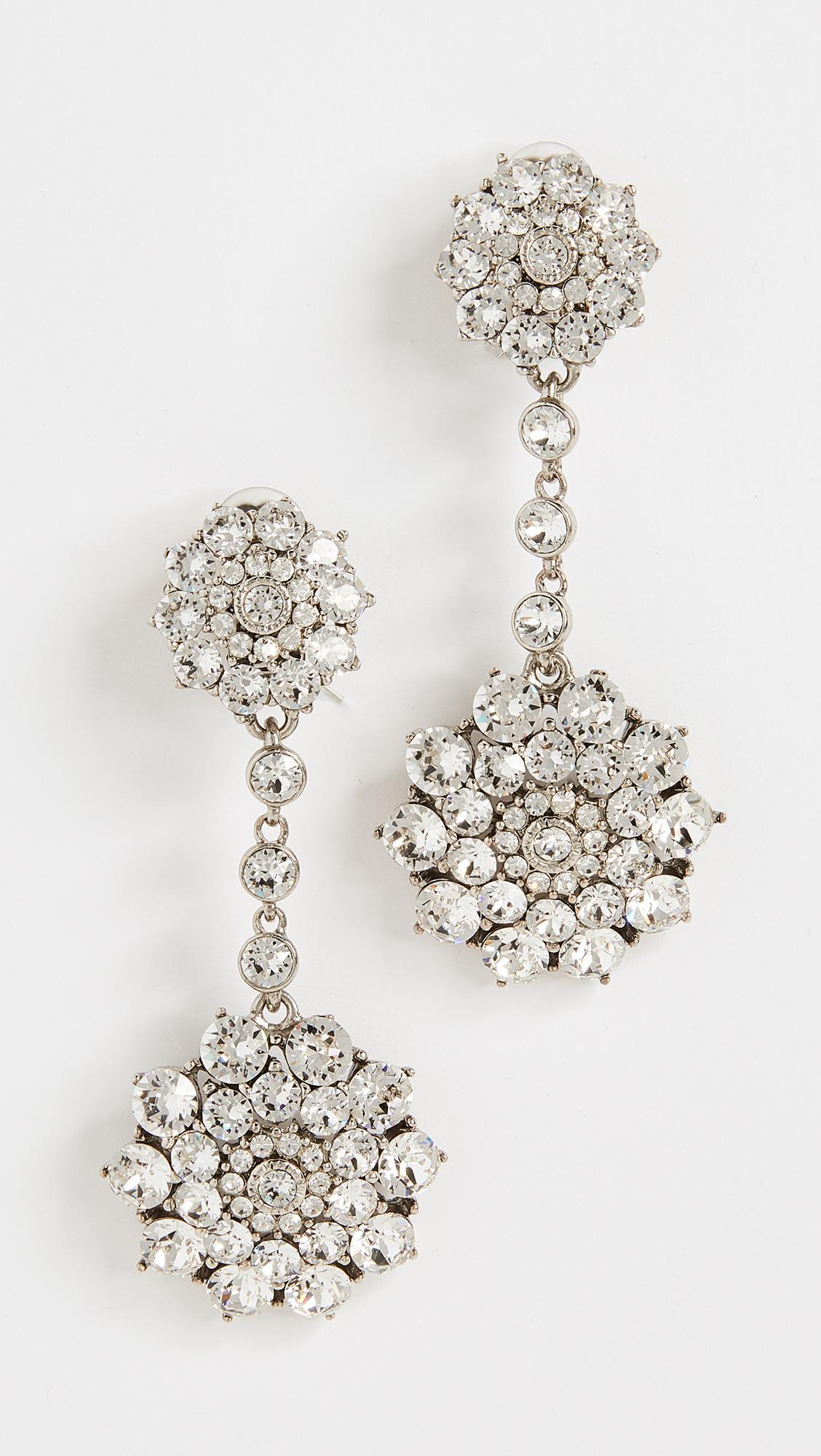 Oscar De La Renta jeweled disc earrings - Metallic oPiqi72d