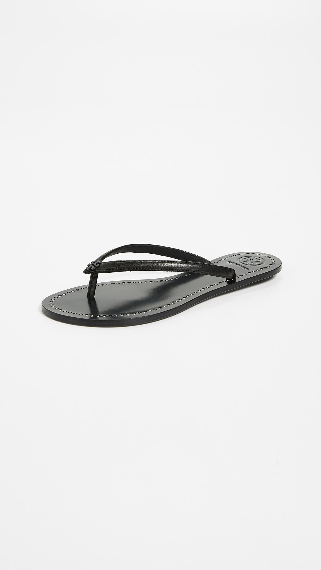 160237a6a91a Lyst - Tory Burch Liana Thong Sandals in Black