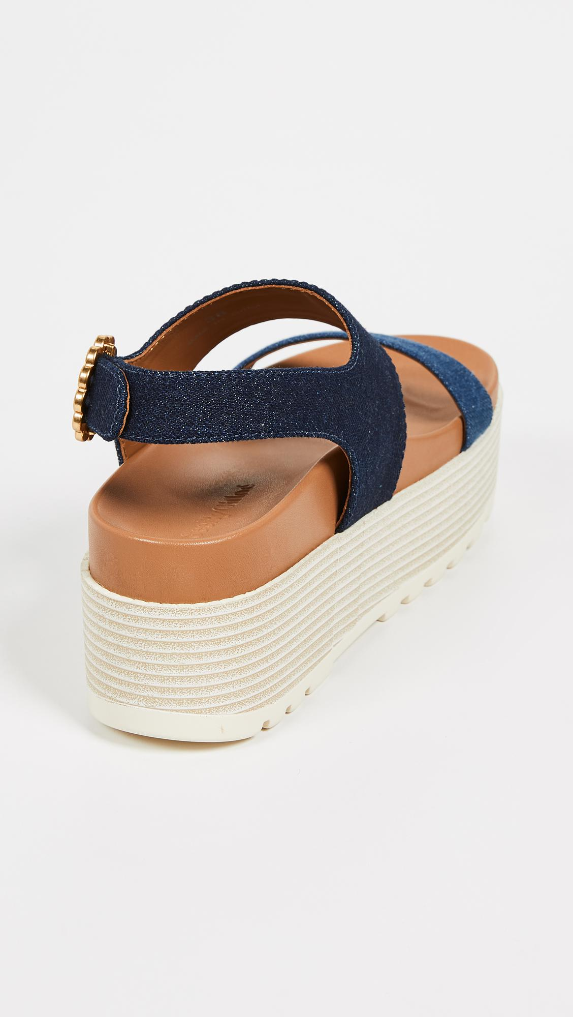 e81b49e2ecc See By Chloé - Blue Jenna Platform Sandals - Lyst. View fullscreen