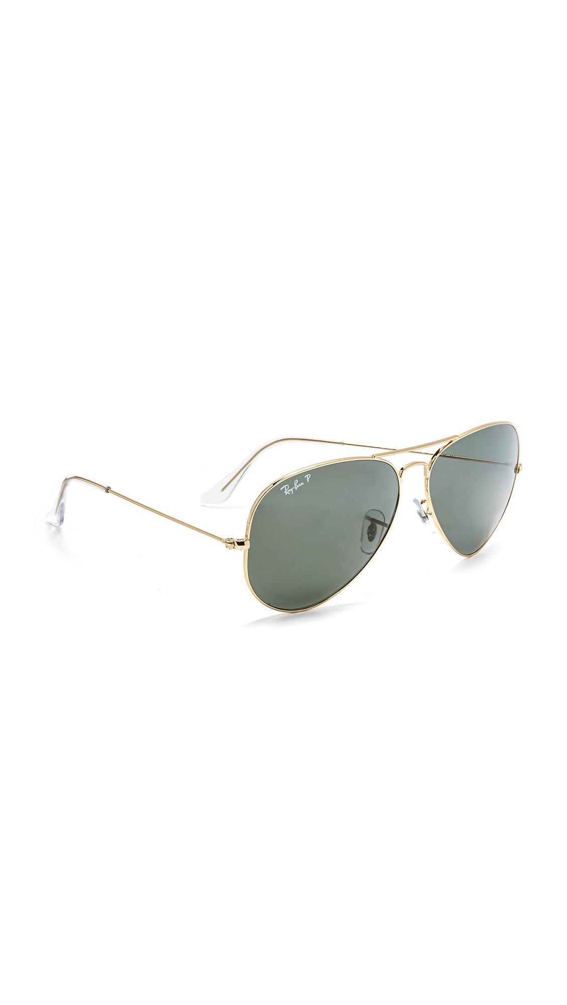 827cf1d25e Lyst - Ray-Ban Oversized Polarized Aviator Sunglasses - Save ...