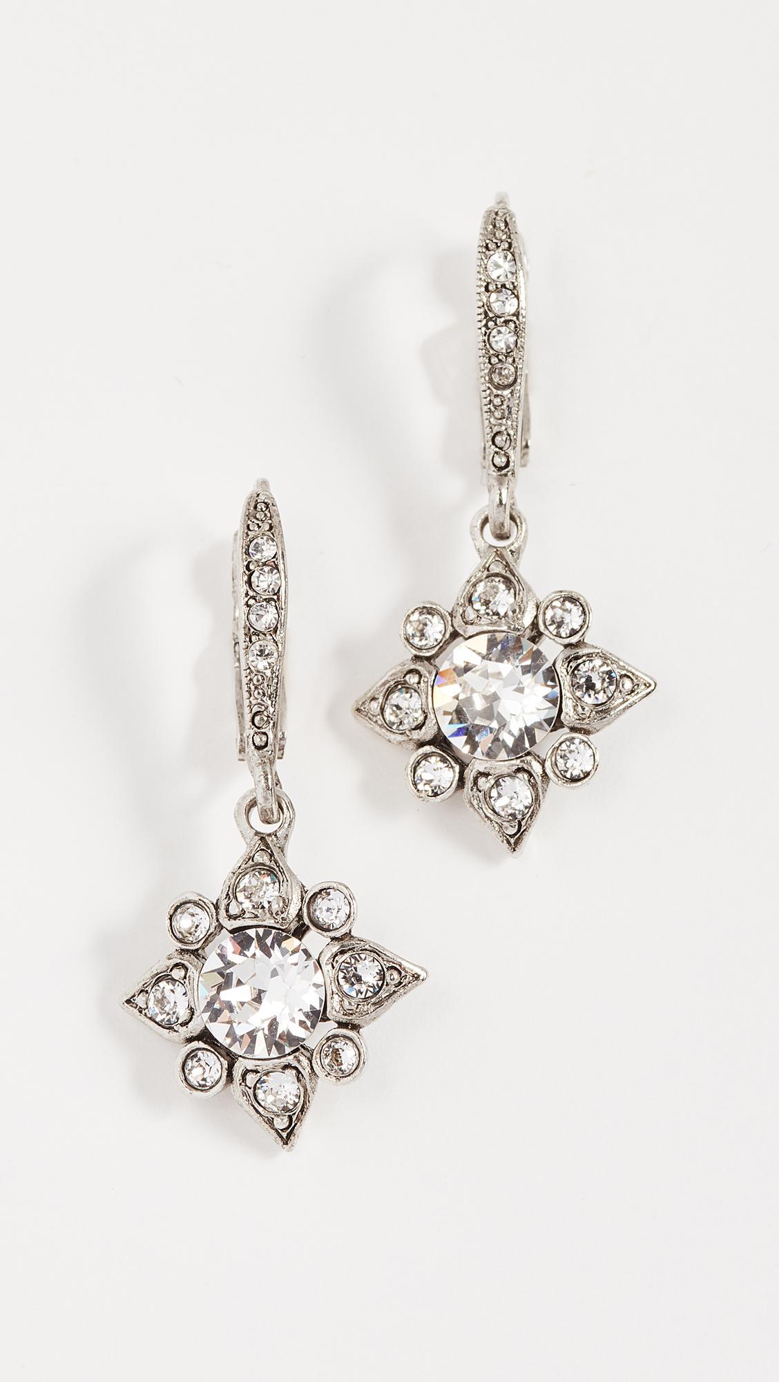 Oscar De La Renta Star Crystal earrings - Metallic J2VxO8