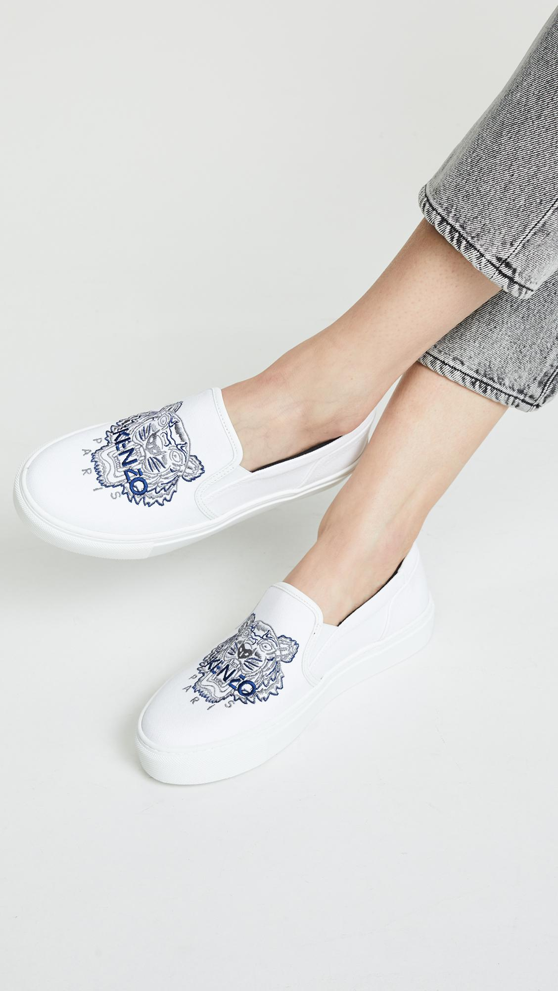 ea5c698061dd Lyst - KENZO K-skate Tiger Sneakers in White - Save 8%