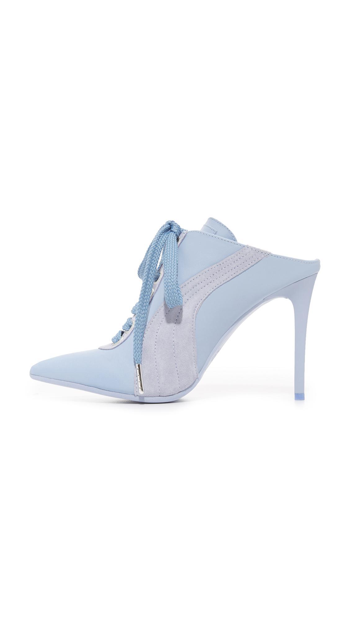 Lyst - PUMA Fenty X Mule Heels in Blue 1eeb063472