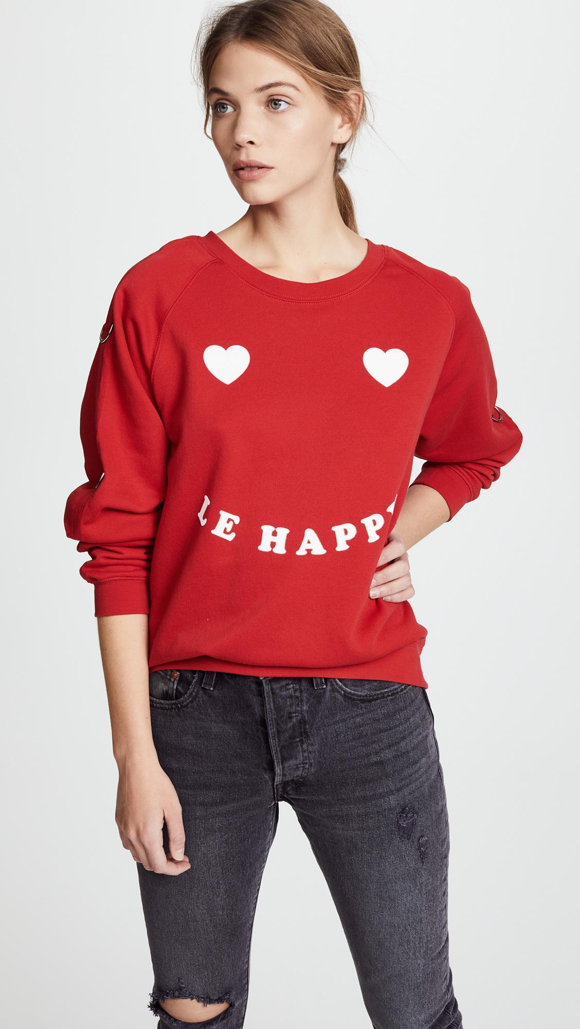 Zoe Karssen Be Happy sweatshirt Clearance Wiki kbuYIXWm