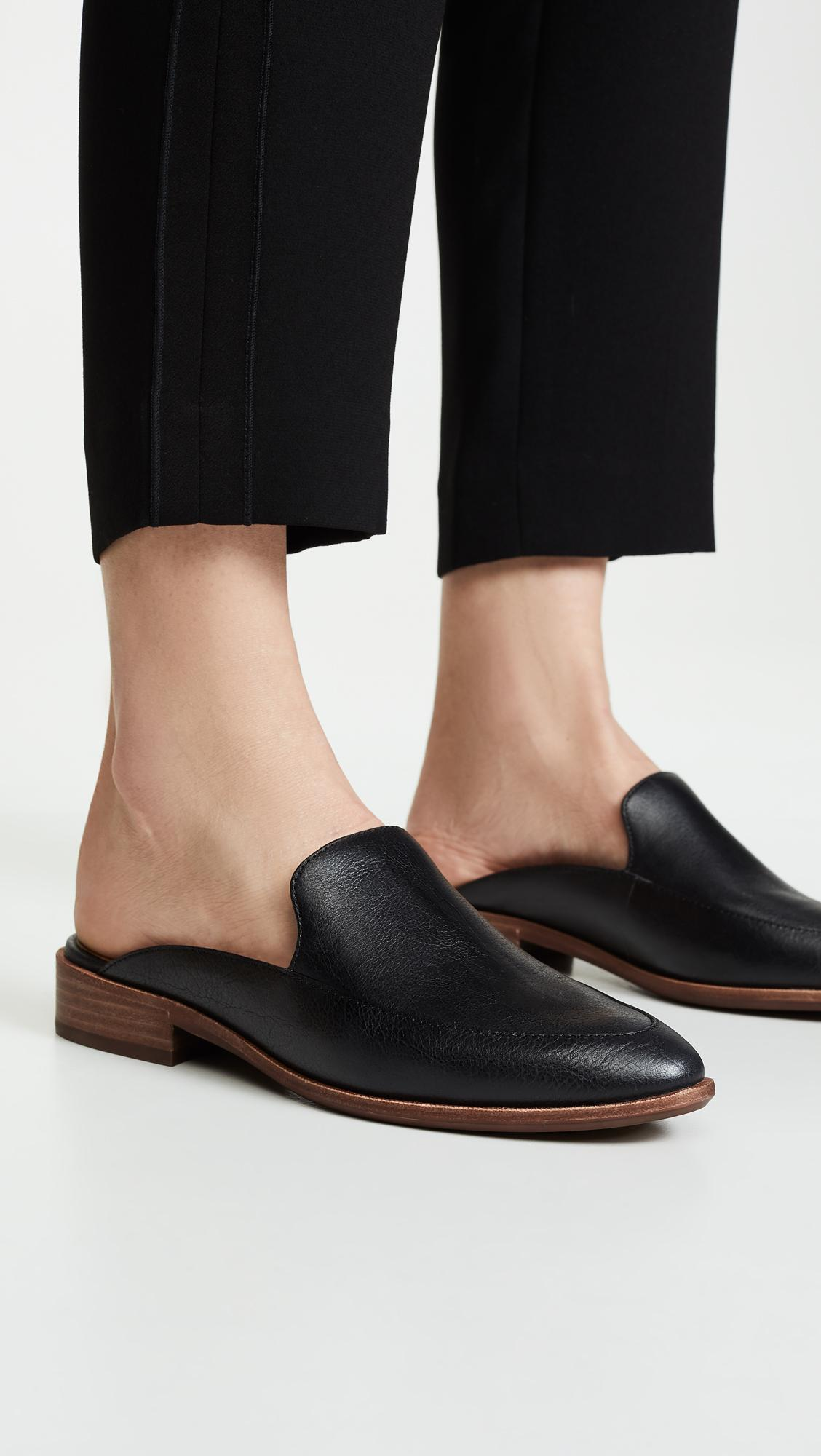 59cdfbcaf40 Madewell - Black The Frances Loafer Mule In Leather - Lyst. View fullscreen