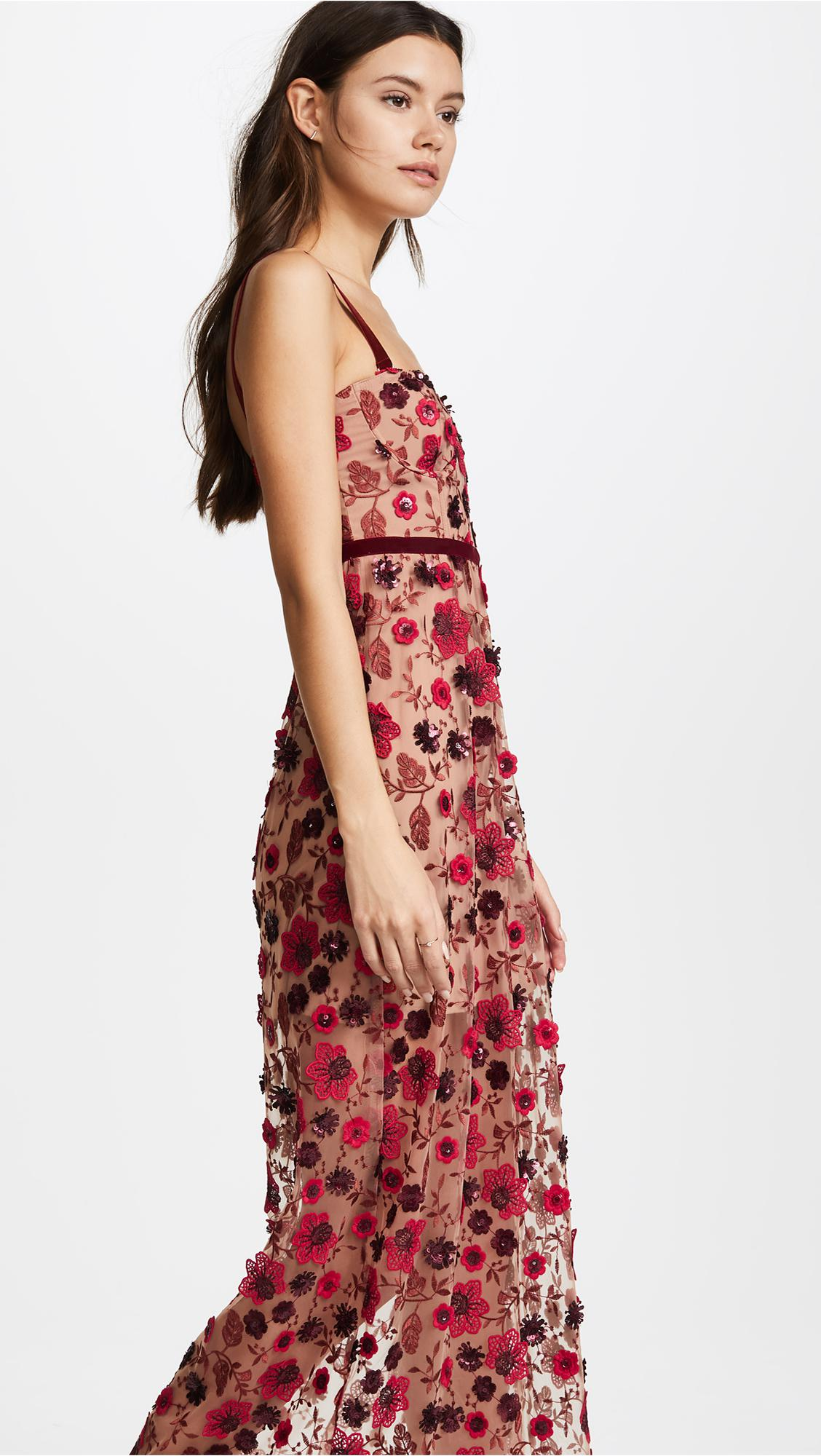 4482eb162f74 For Love & Lemons Beatrice Strappy Maxi Dress in Red - Lyst