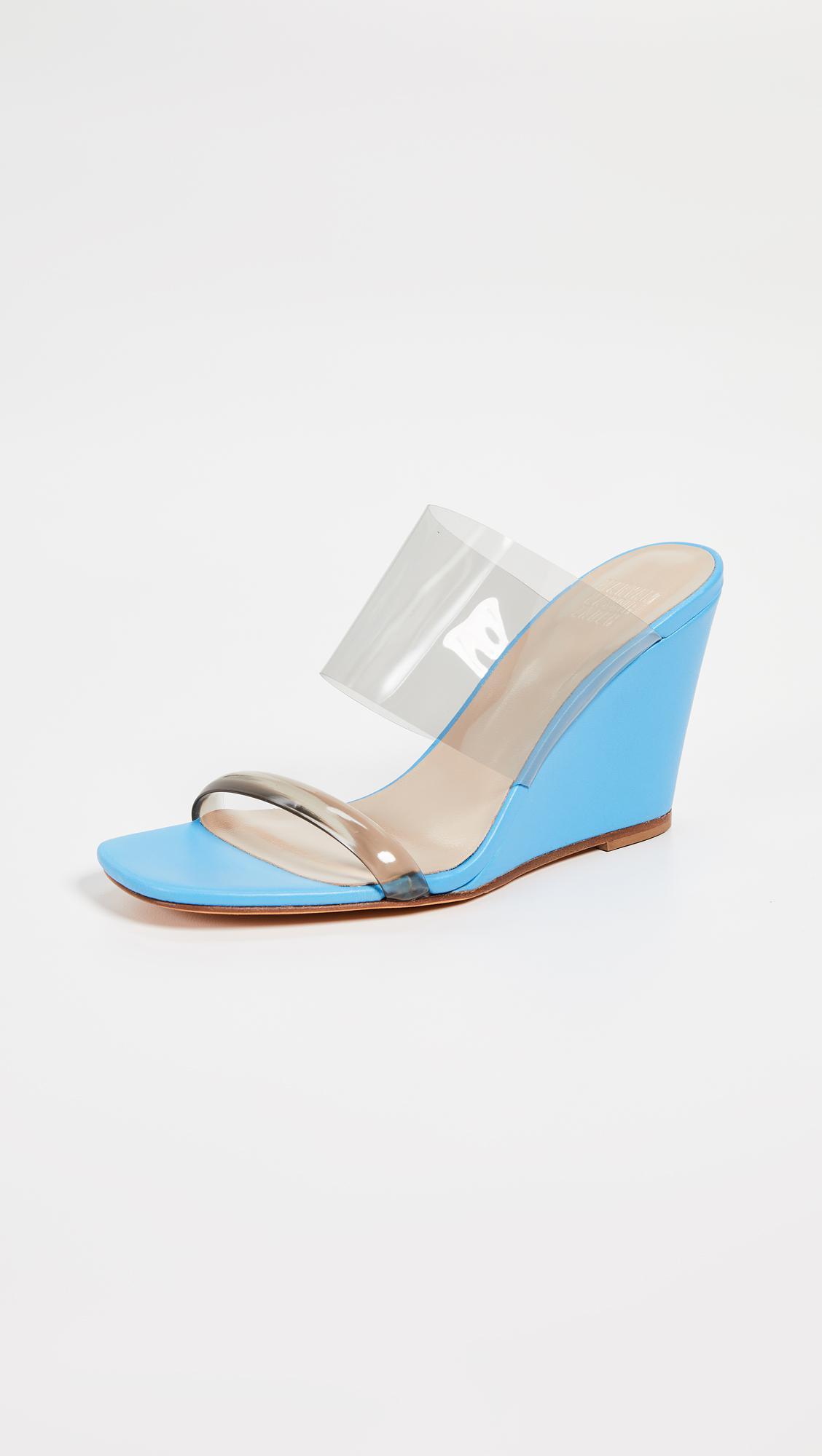 9c35e5c742b Lyst - Maryam Nassir Zadeh Olympia Wedges in Blue
