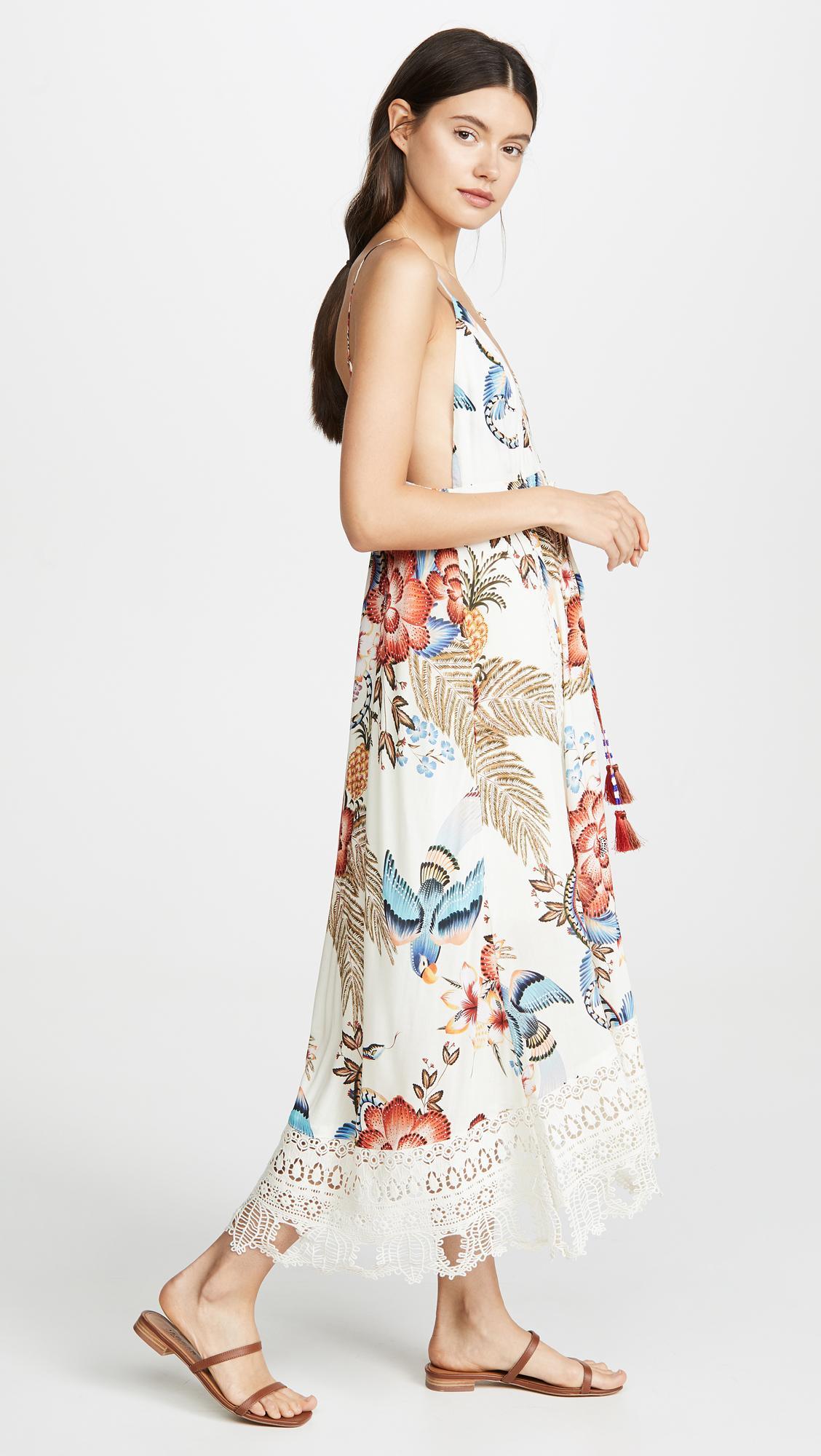 bb9626c0e1bf ... Romantic Floral Mini Dress - Lyst. View fullscreen