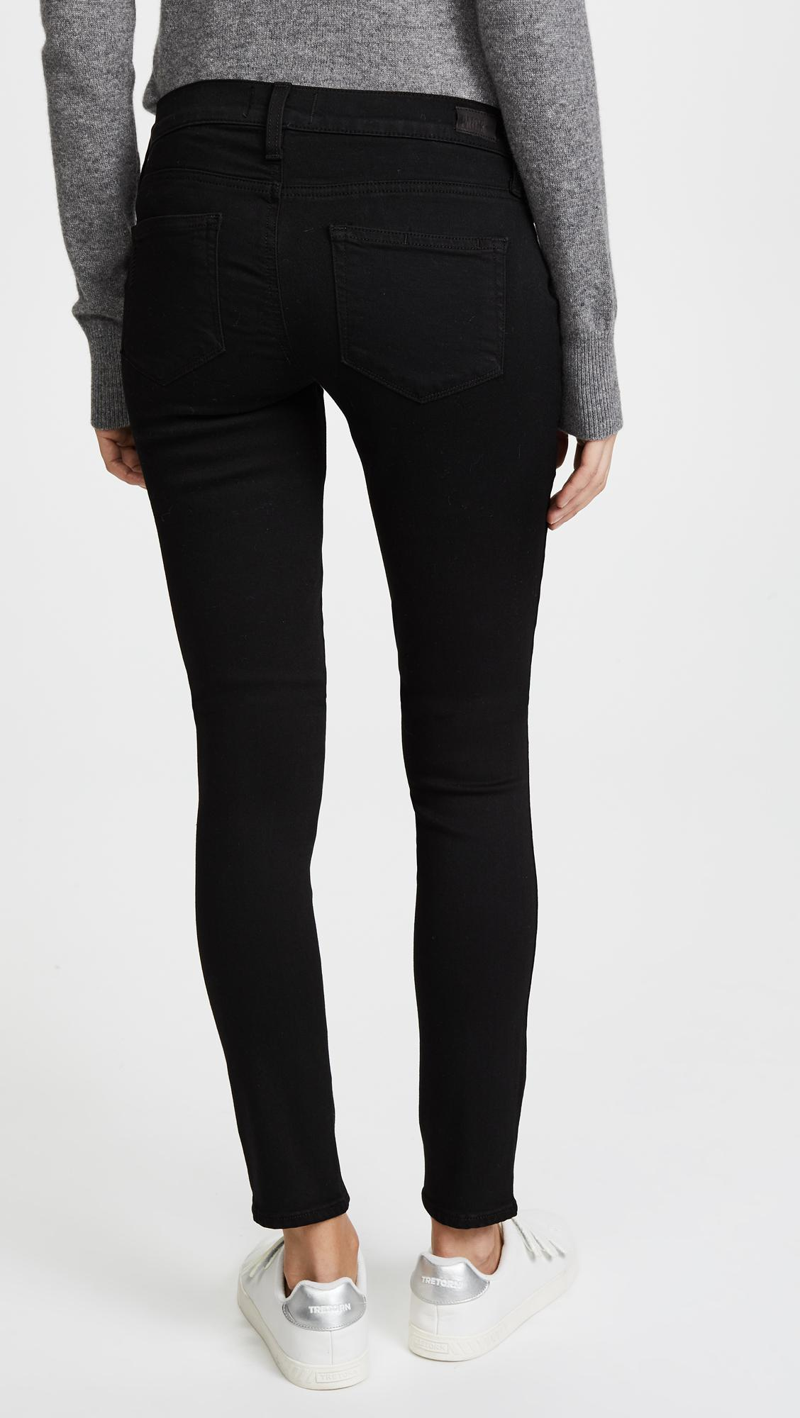e7cccd6ab9093 PAIGE - Black Transcend Verdugo Ultra Skinny Maternity Jeans - Lyst. View  fullscreen