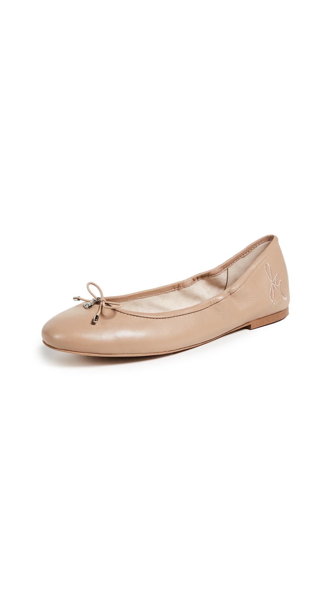b5d95c7f064 Sam Edelman - Natural Felicia Ballet Flats - Lyst. View fullscreen