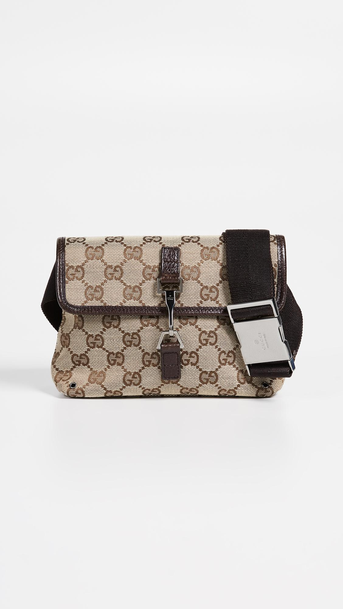 dbef0ad1eed What Goes Around Comes Around Gucci Brown Canvas Belt Bag in Brown ...