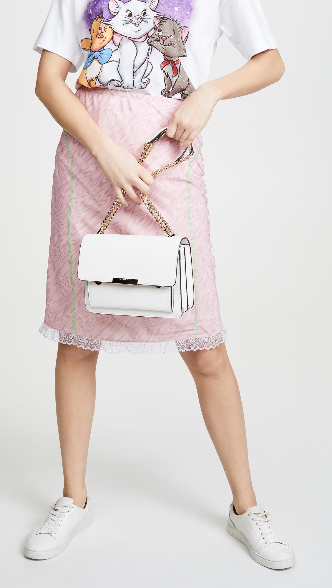 e8ce2657a626 MICHAEL Michael Kors - White Jade Large Gusset Shoulder Bag - Lyst. View  fullscreen