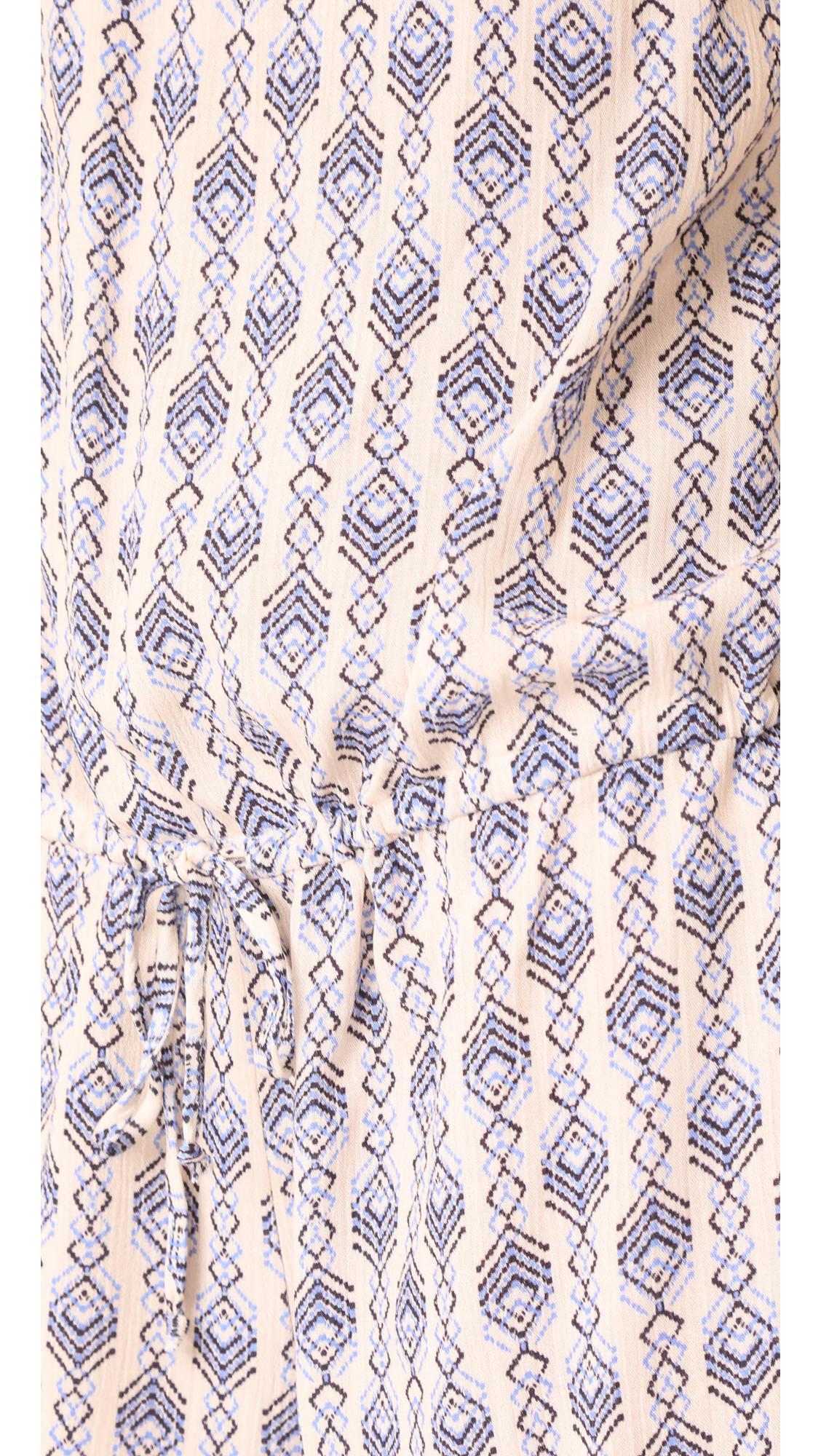 e153502e0f0 Eberjey Geo Garland Juno Romper in Blue - Lyst