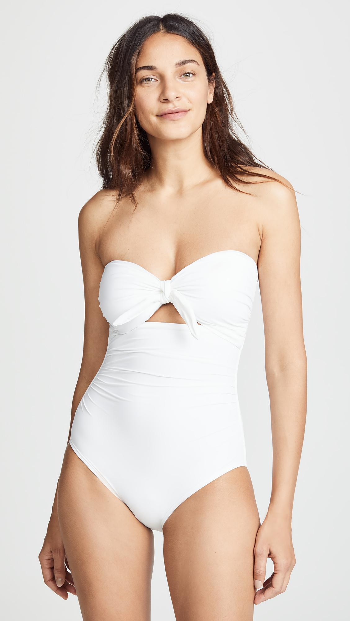 bf20a384d402 Kate Spade Grove Beach One Piece in White - Lyst