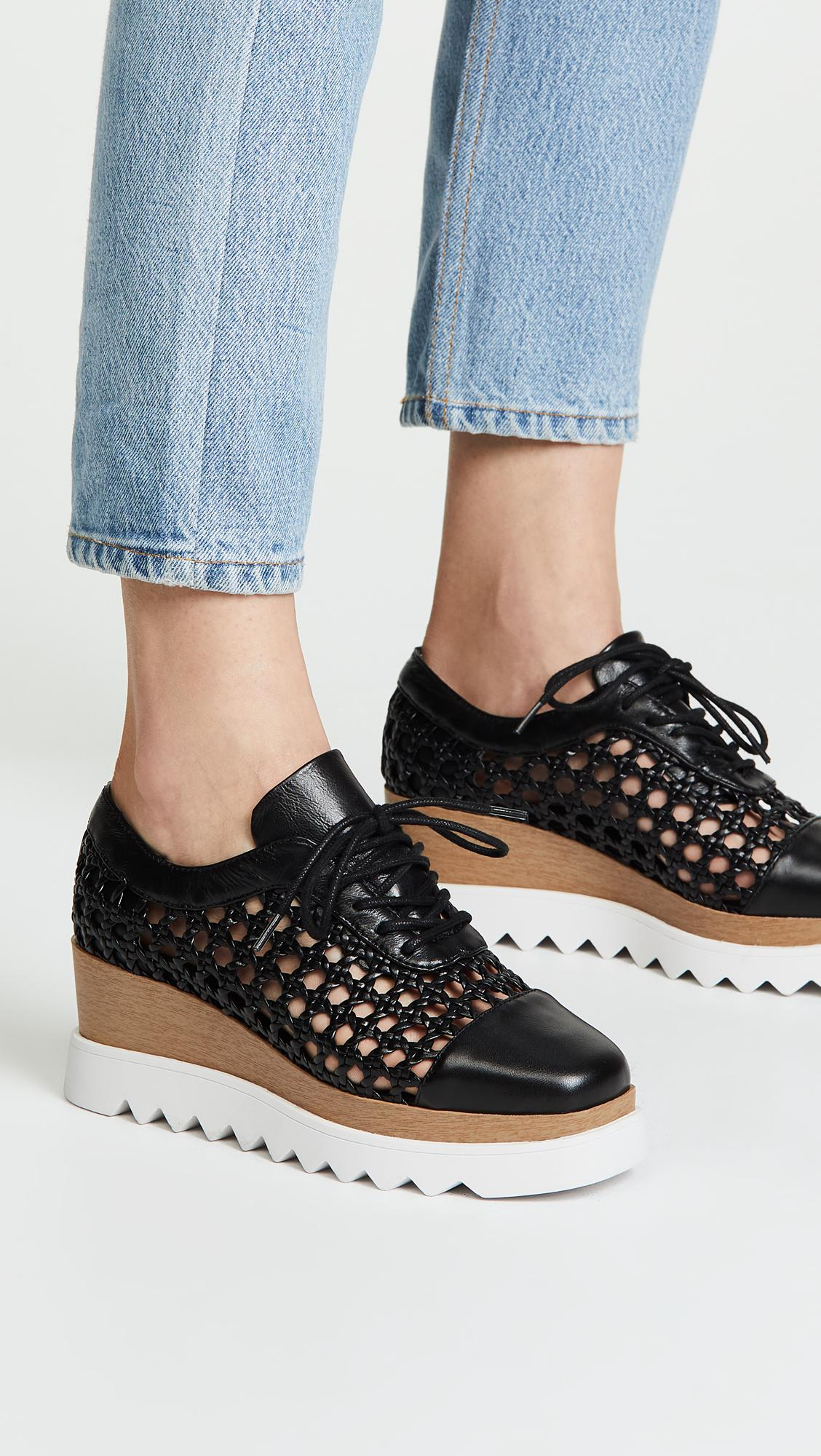 91d9ee28aa92 Sol Sana Fremont Wedge Oxfords in Black - Lyst