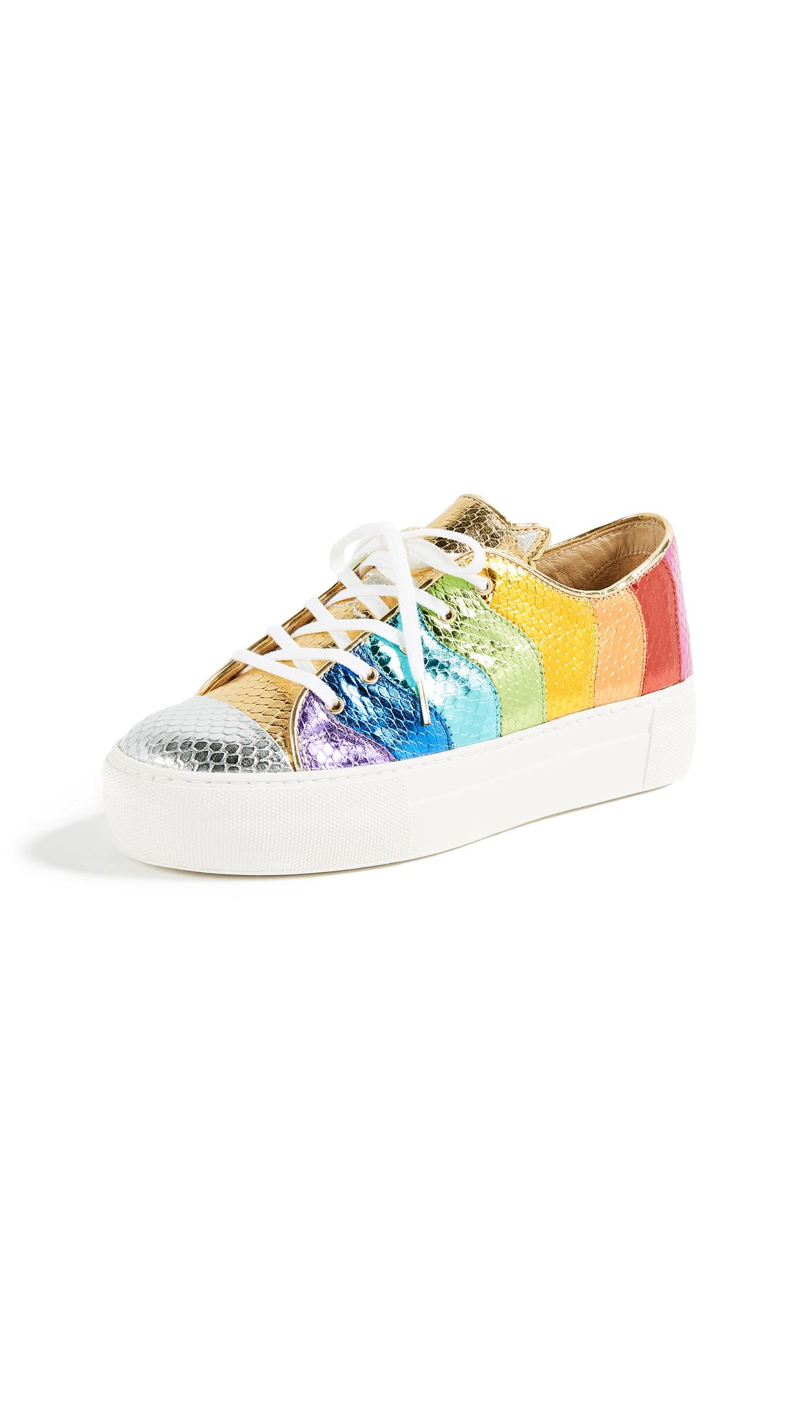 Multicolor Metallic Purrfect Sneakers Charlotte Olympia