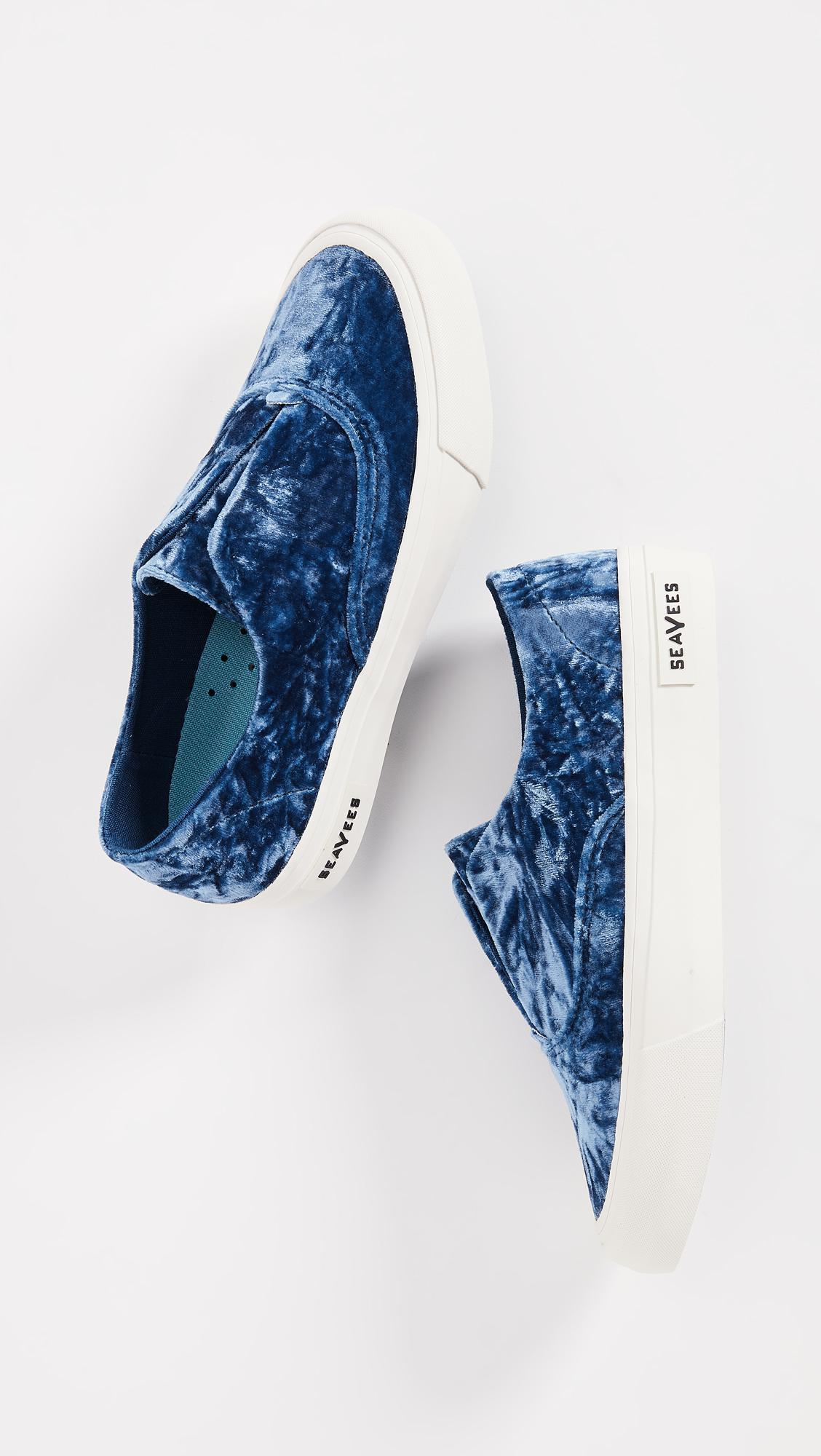 c2ed3e7cd6a Lyst - Seavees Sunset Velvet Crush Sneakers in Blue