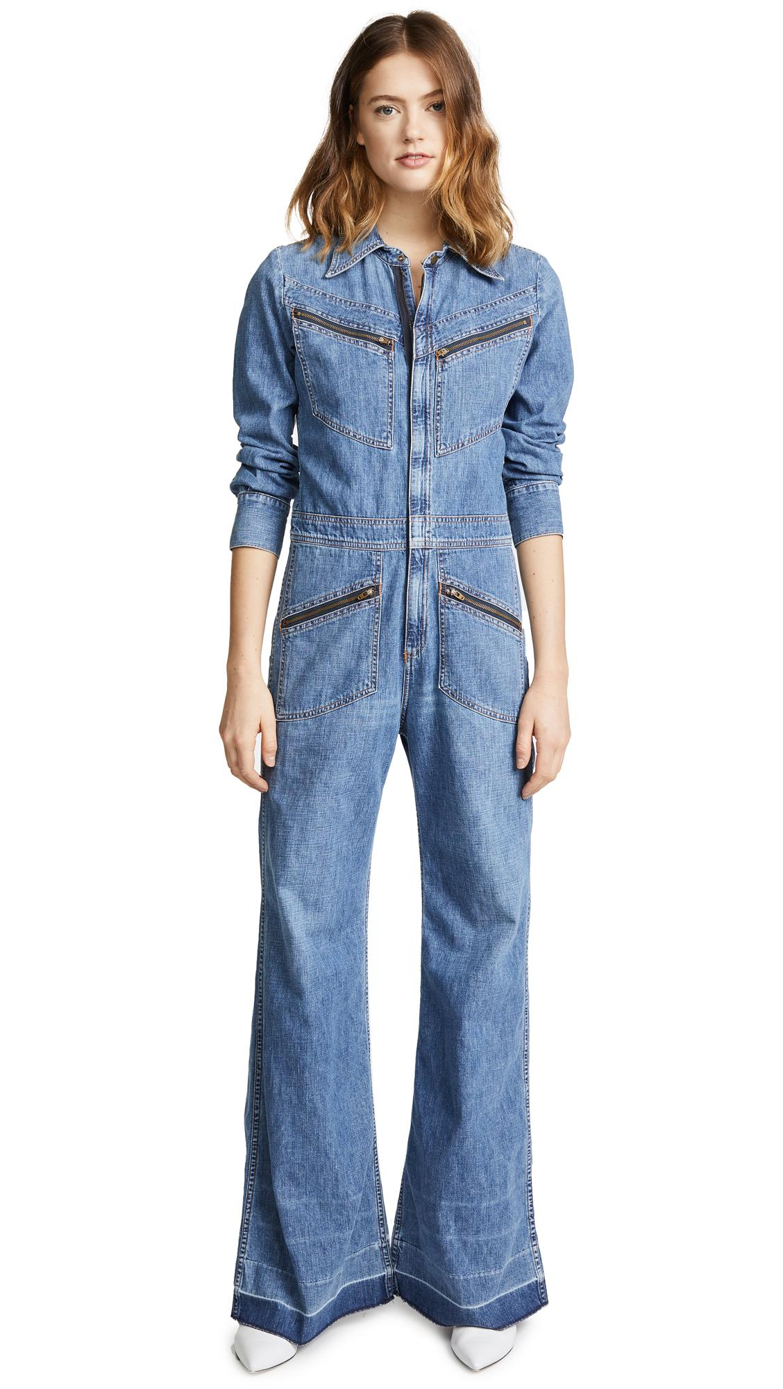 769a17a852c8 Lyst - Citizens of Humanity Farrah  70s Jumpsuit in Blue