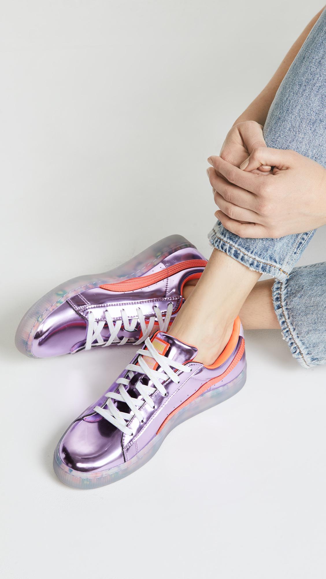 ec1565dc340 Lyst - PUMA X Sophia Webster Basket Candy Princess Sneakers in Pink
