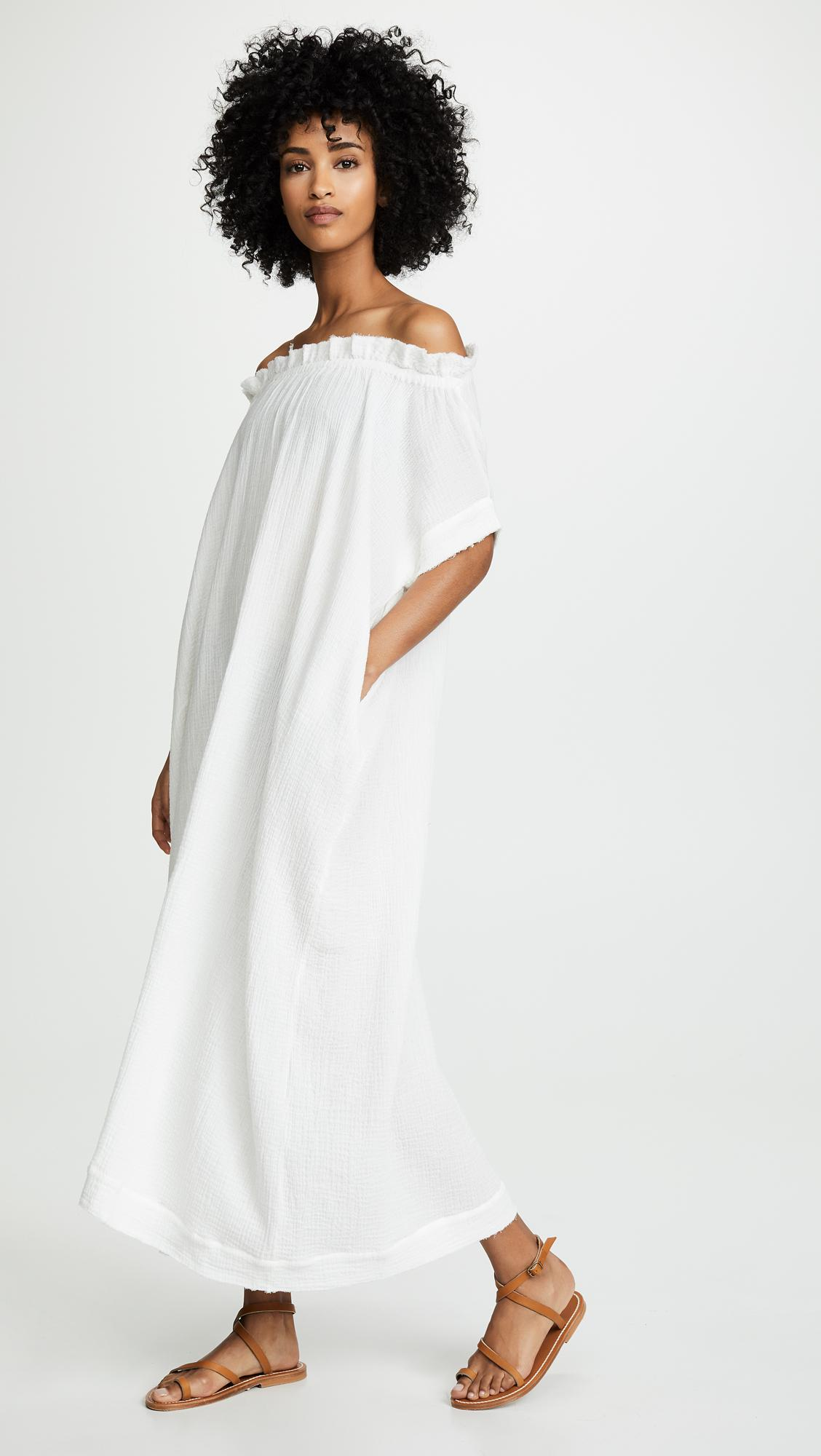 7f8010941c Mikoh Swimwear Mirakami Dress in White - Lyst