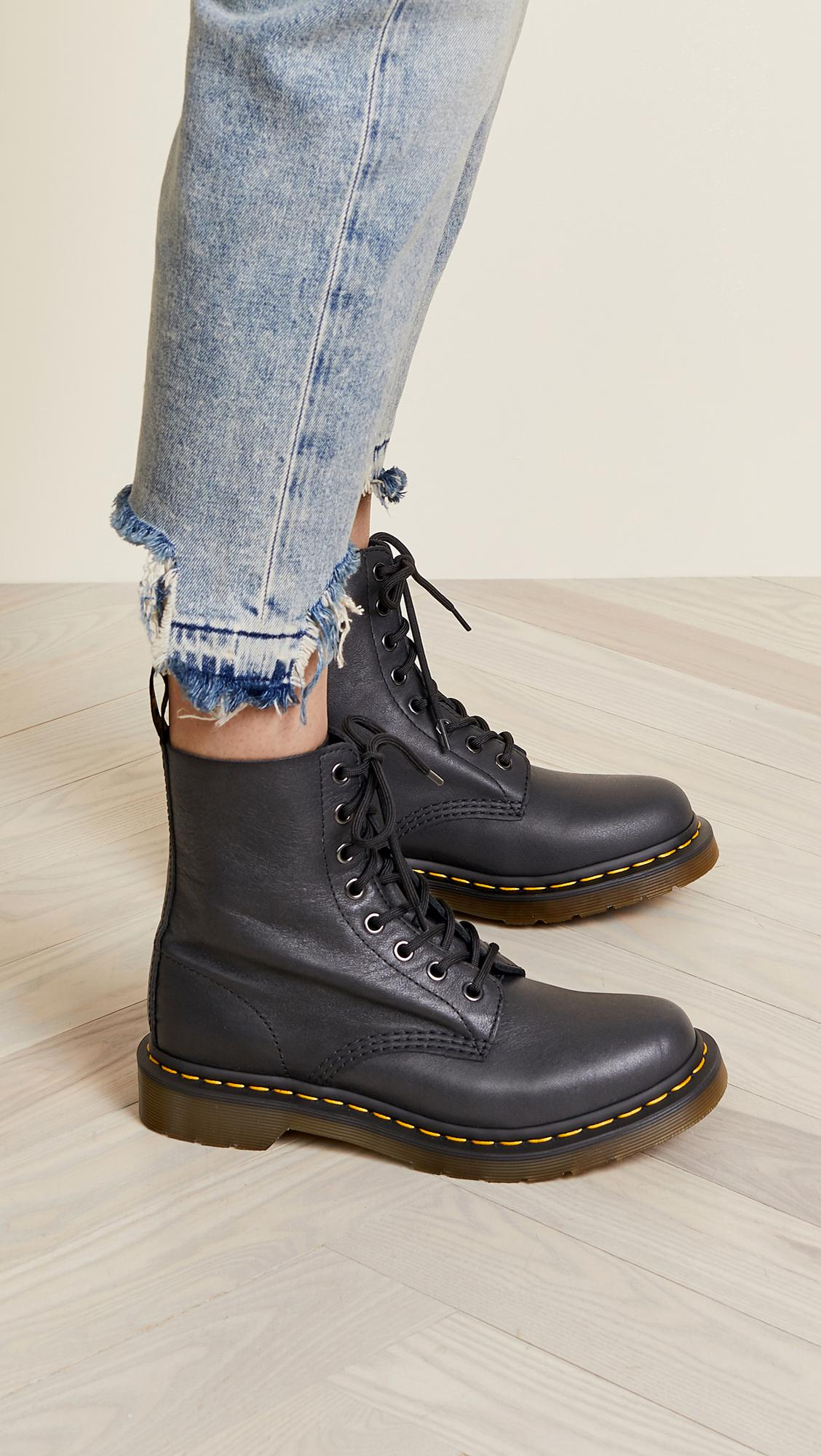 186c75f39a9a ... Black 1460 Pascal 8 Eye Boots - Lyst. View fullscreen
