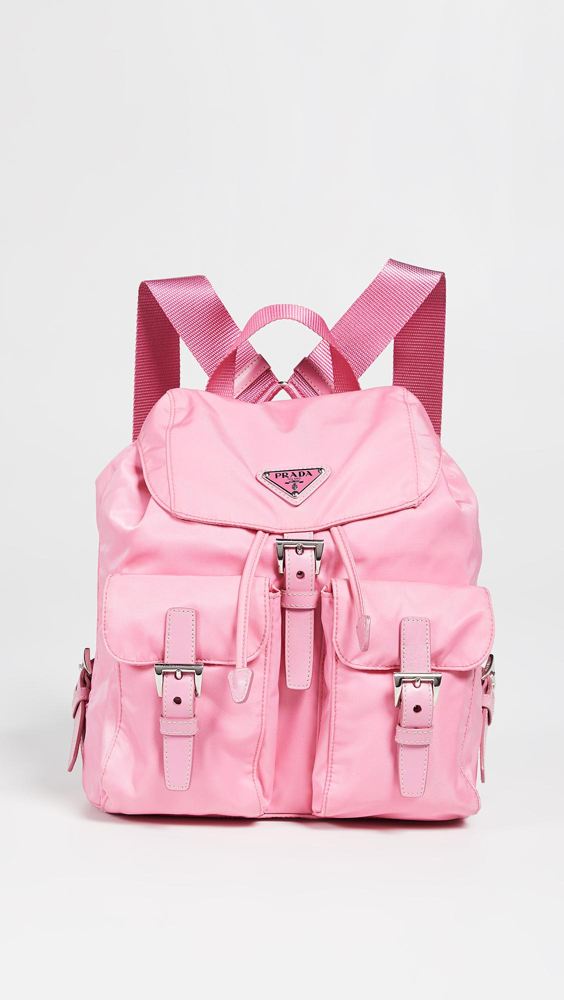 525841efafbc Lyst - What Goes Around Comes Around Prada Pink Nylon Backpack in Pink