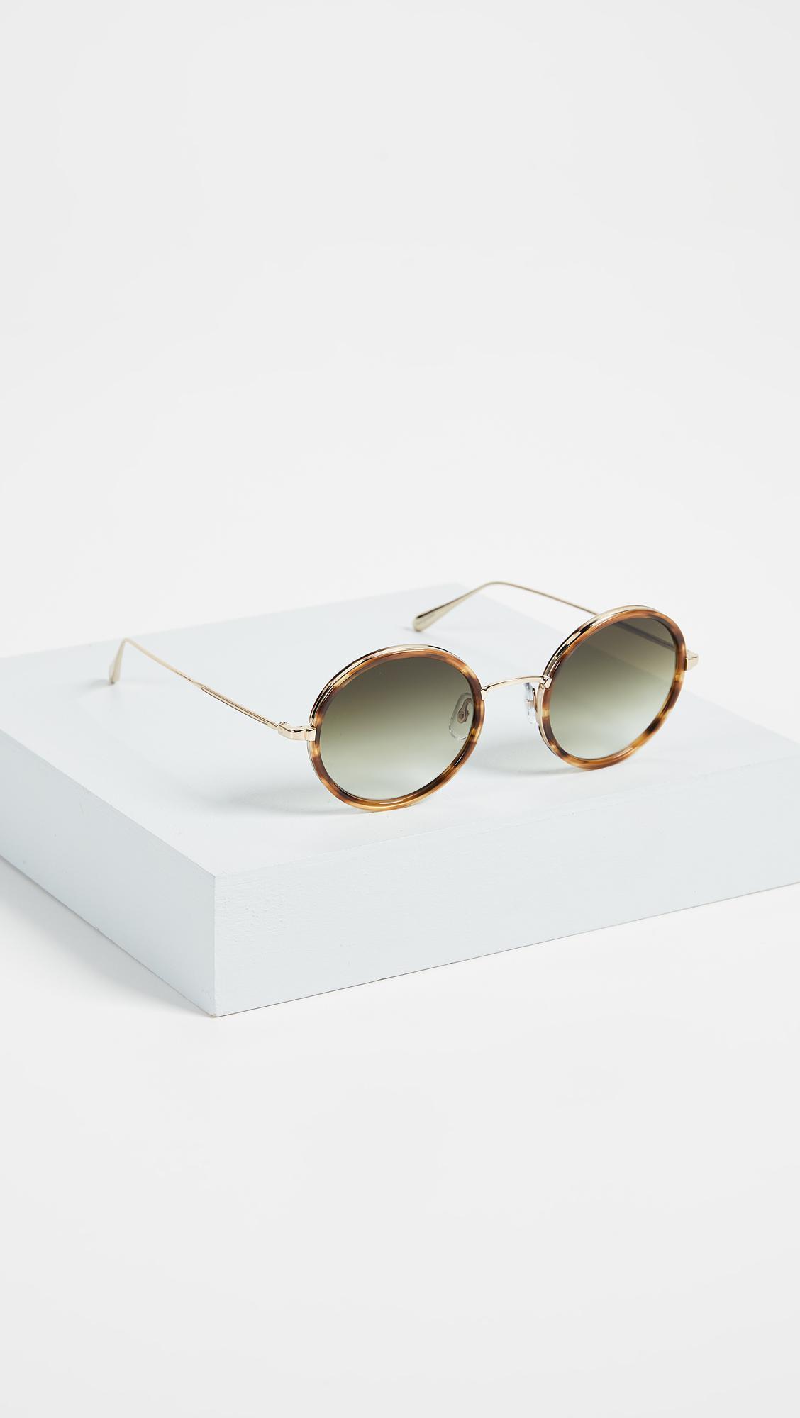 Playa 48 round-frame sunglasses Garrett Leight qC3Opy