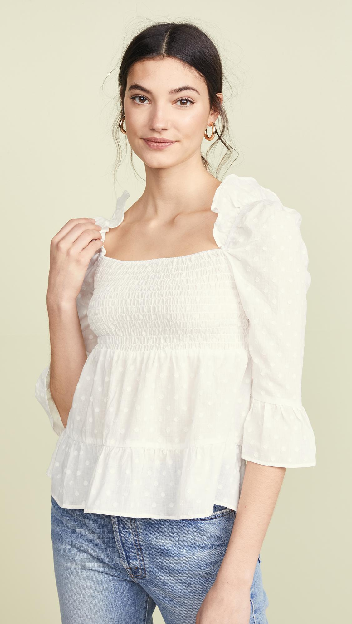 06359b97318 BB Dakota Pay Attention Blouse in White - Lyst