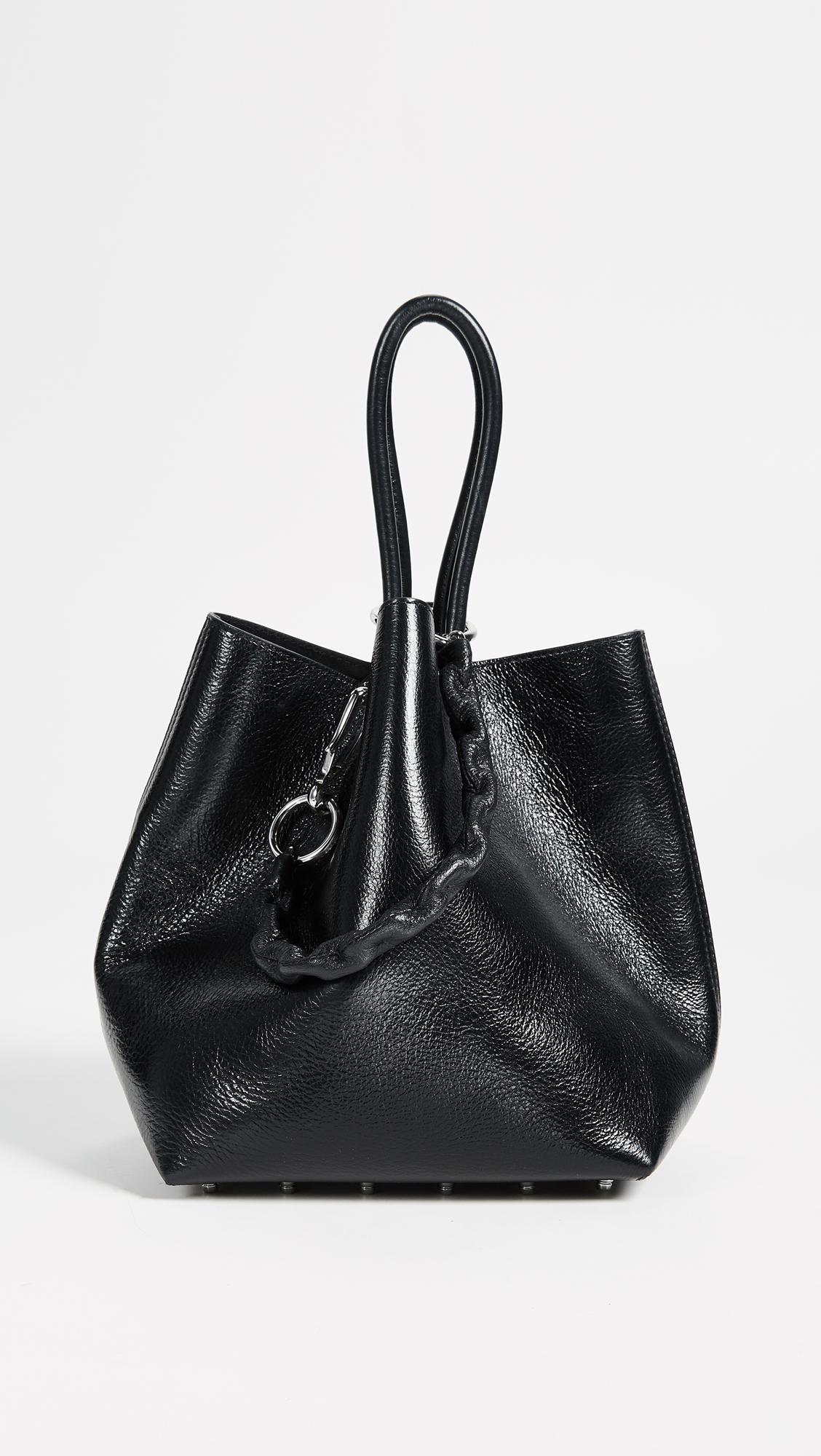Roxy Small Tote Bag in Black Calfskin Alexander Wang lyV6q