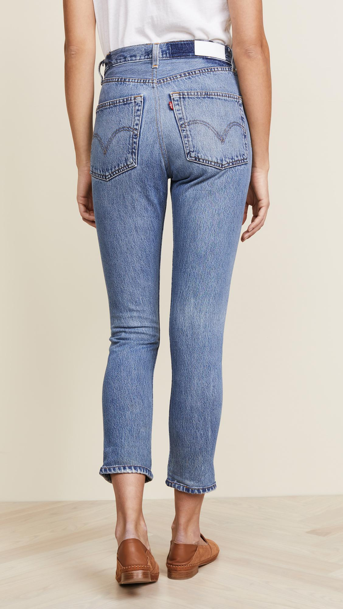 a34443d3eb6b2 Re done - Blue X Levi s High Rise Ankle Crop Jeans - Lyst. View fullscreen