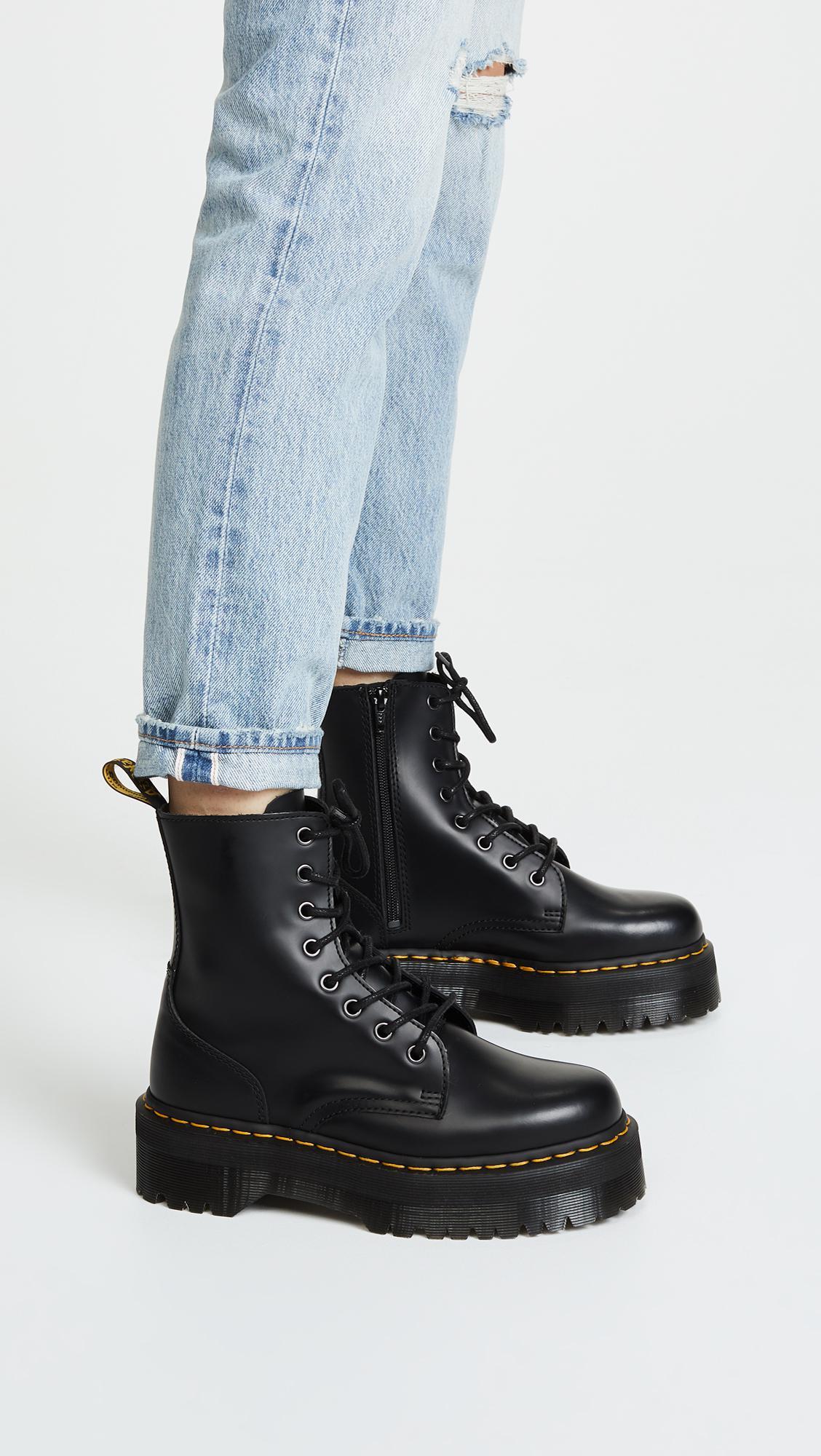 12b263405aec27 Dr. Martens - Black Jadon 8 Eye Boots - Lyst. View fullscreen
