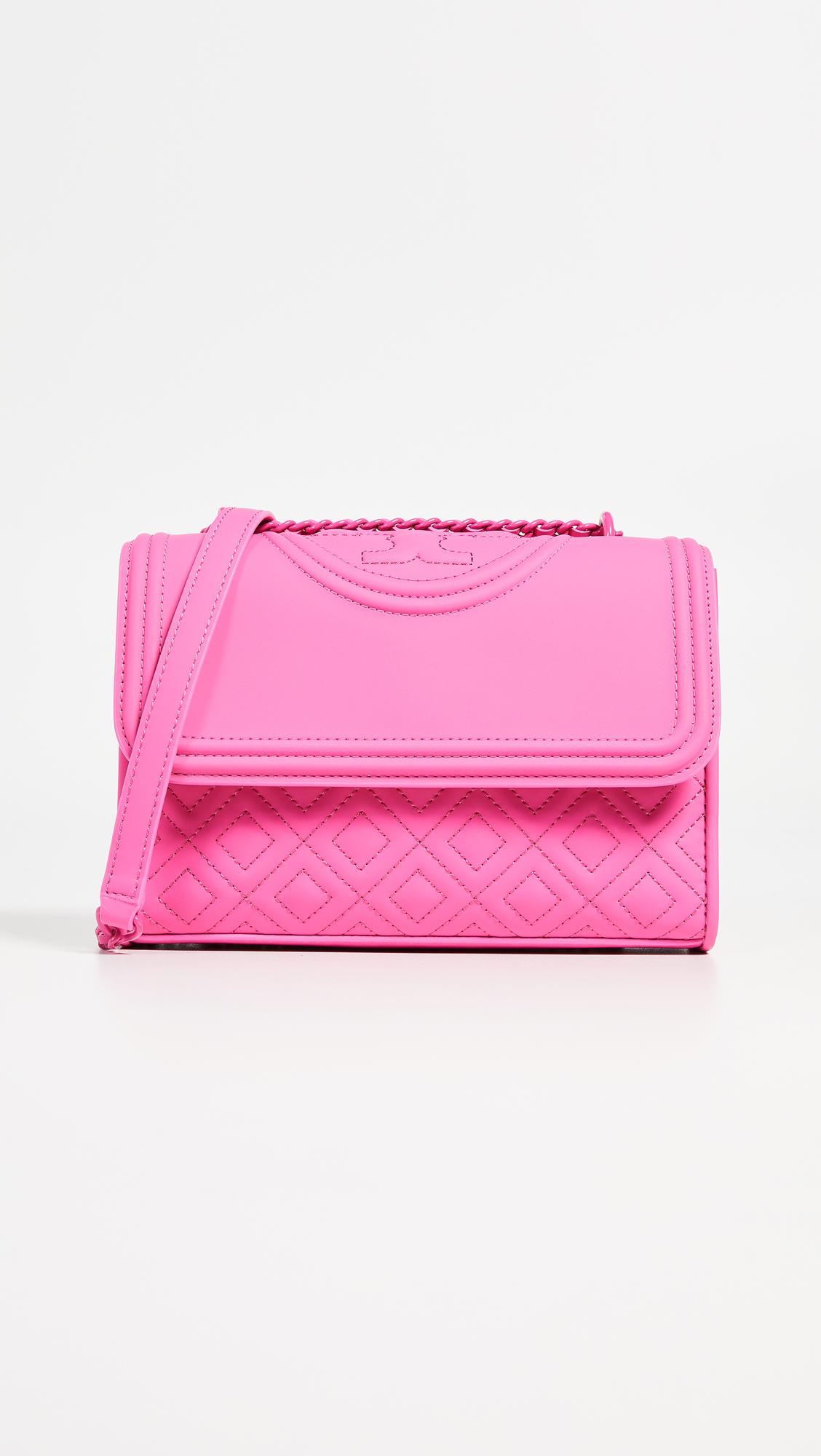 40e4f13a6bd1 Lyst - Tory Burch Fleming Matte Small Convertible Shoulder Bag in Pink