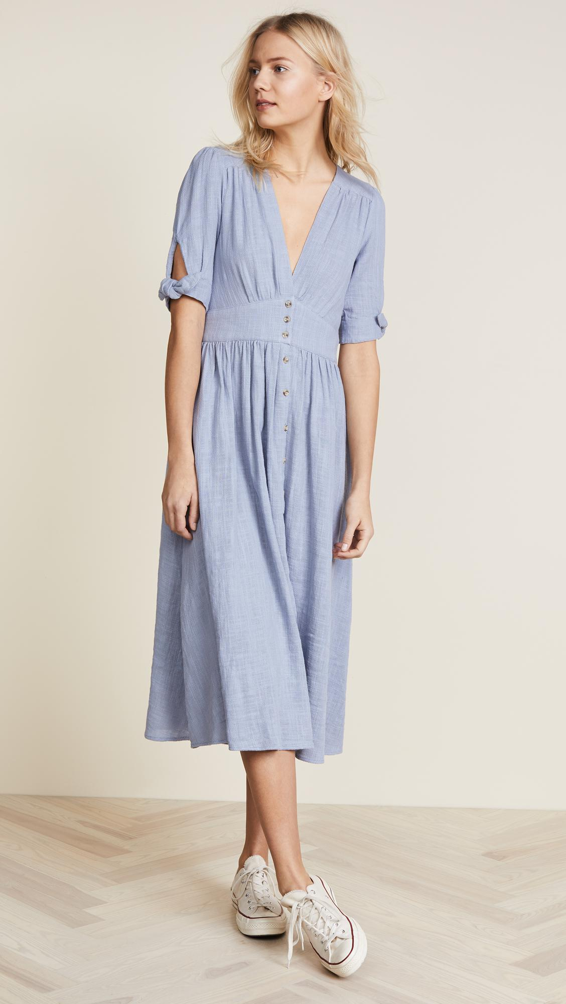 Free People Love Of My Life Dress in Blue - Lyst 7a9cffbe3