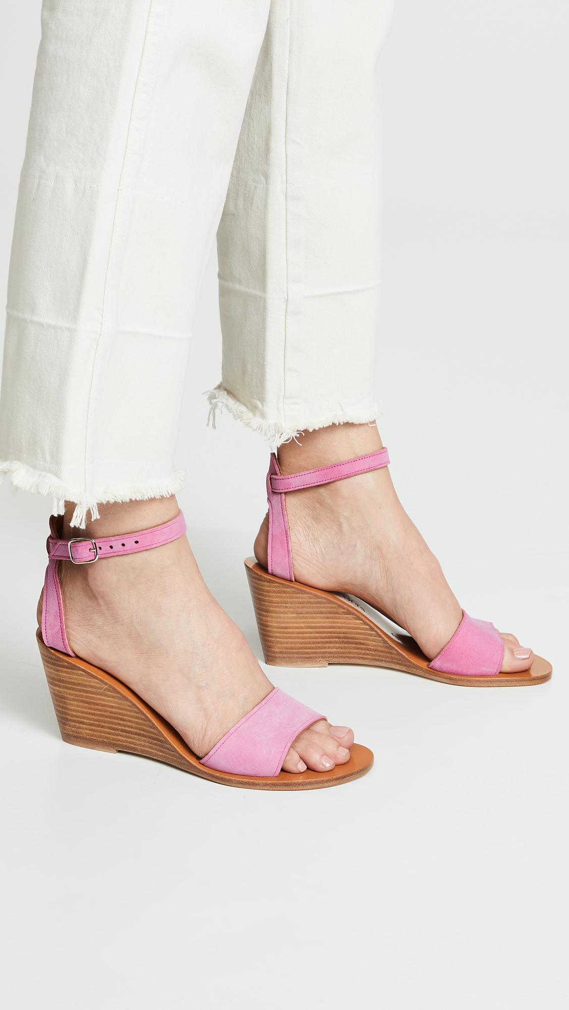 4c0ca0477c71 K. Jacques - Pink Sardaigne Wedge Sandals - Lyst. View fullscreen
