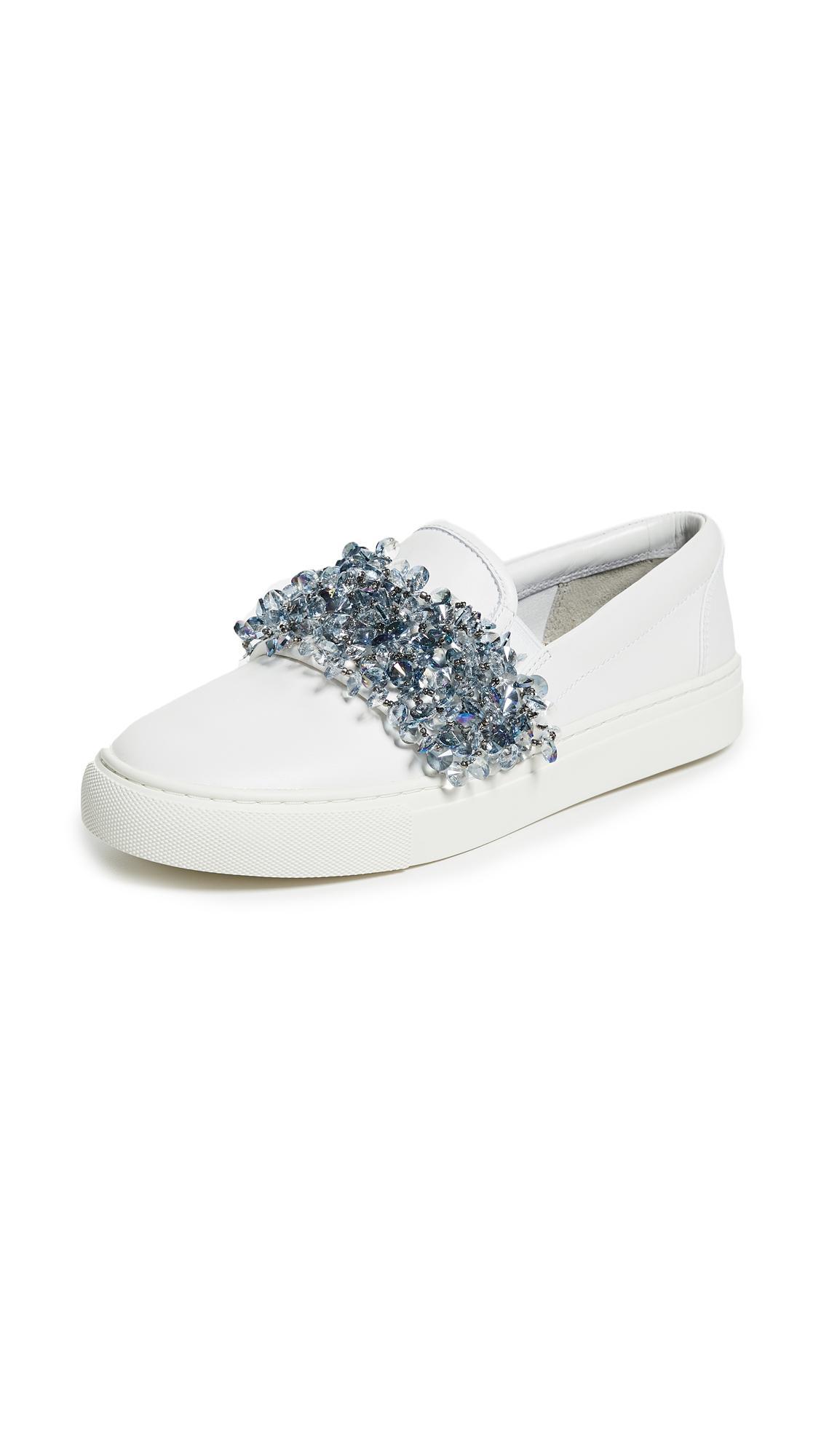 Tory Burch Logan embellished slip on sneakers Countdown Package Cheap Online 4Z0ko1t