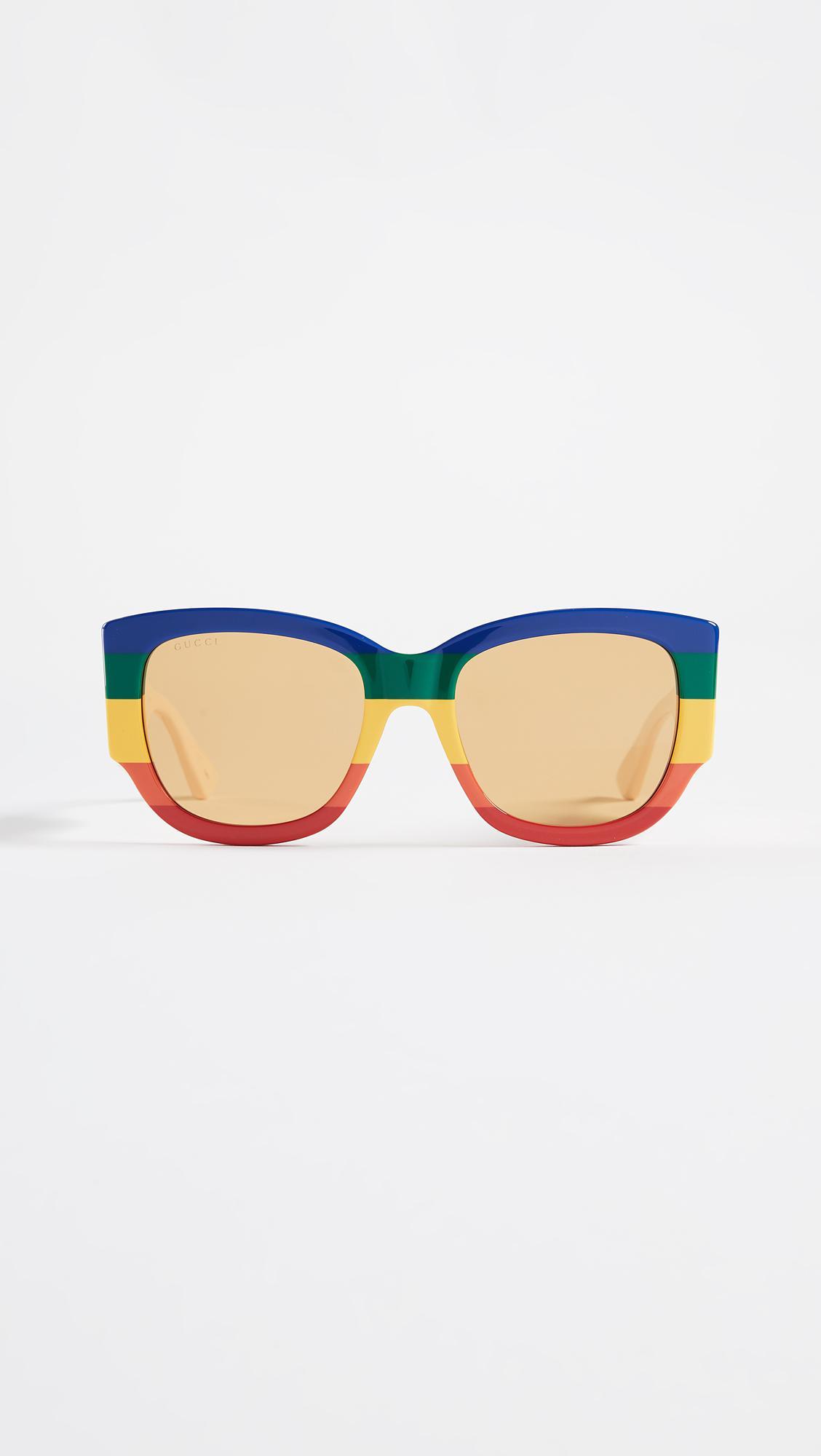 b87369d526f Lyst - Gucci Sylvie Bold Cat Eye Sunglasses