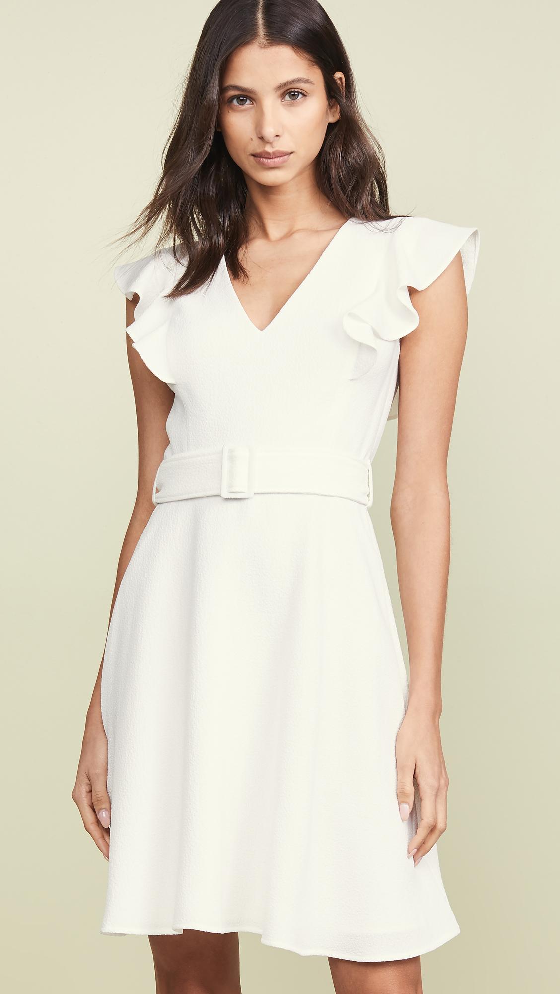 507b14d385d Lyst - Black Halo Hailey Dress in White