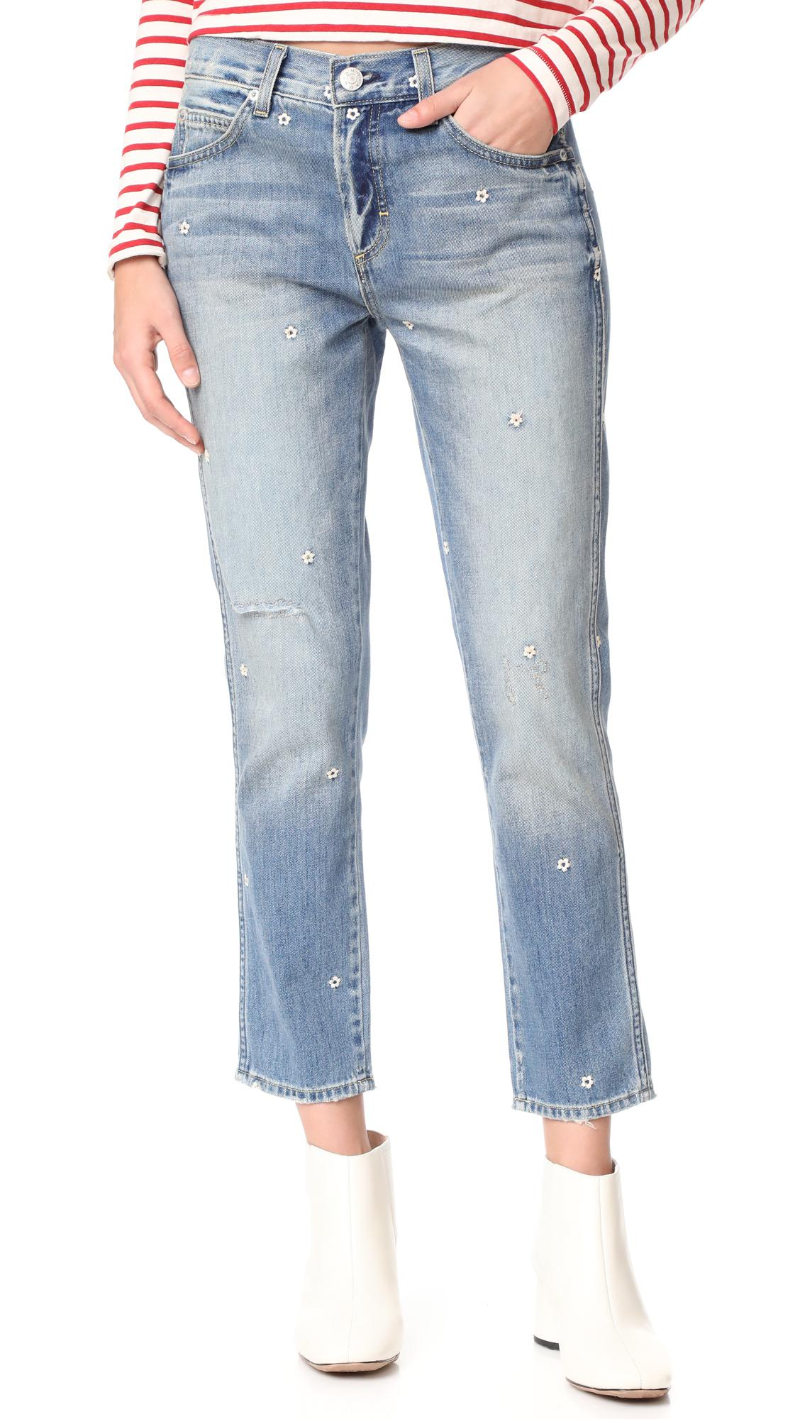 cropped tomboy jeans - Blue Amo mVBTjAntH