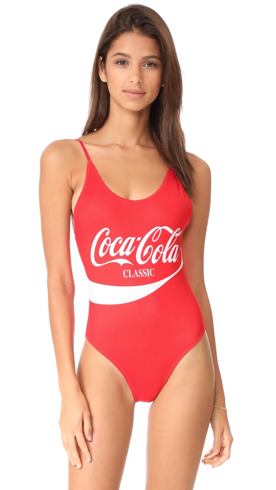 e23c89121e Lyst - Chaser Coca Cola Classic One Piece in Red