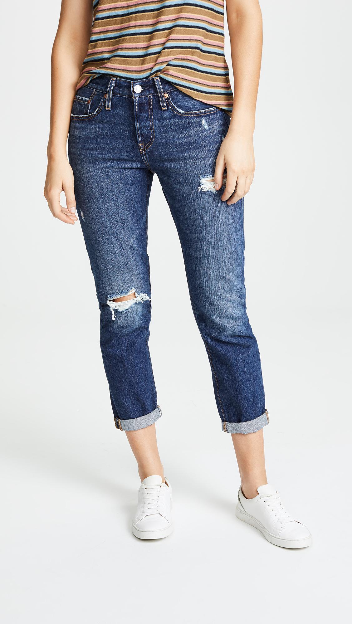 93e5ca49970 Levi's 501 Taper Jeans in Blue - Lyst