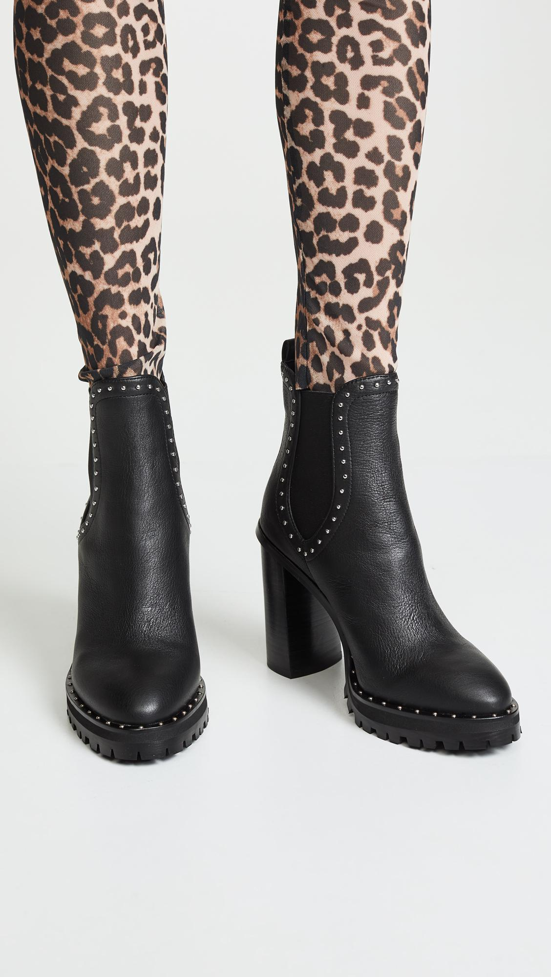 e7646a5284c Rebecca Minkoff - Black Edolie Block Heel Chelsea Boots - Lyst. View  fullscreen