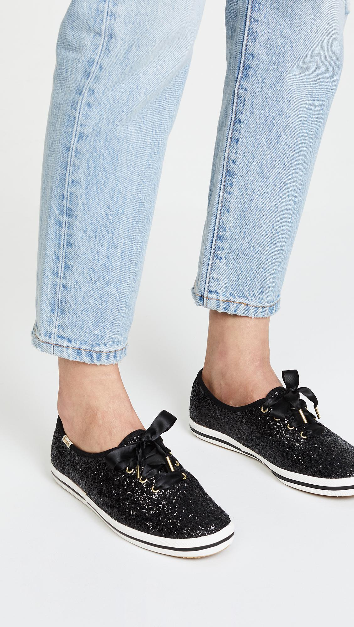 f68ebc123f29 Keds - Black X Kate Spade New York Glitter Sneakers - Lyst. View fullscreen