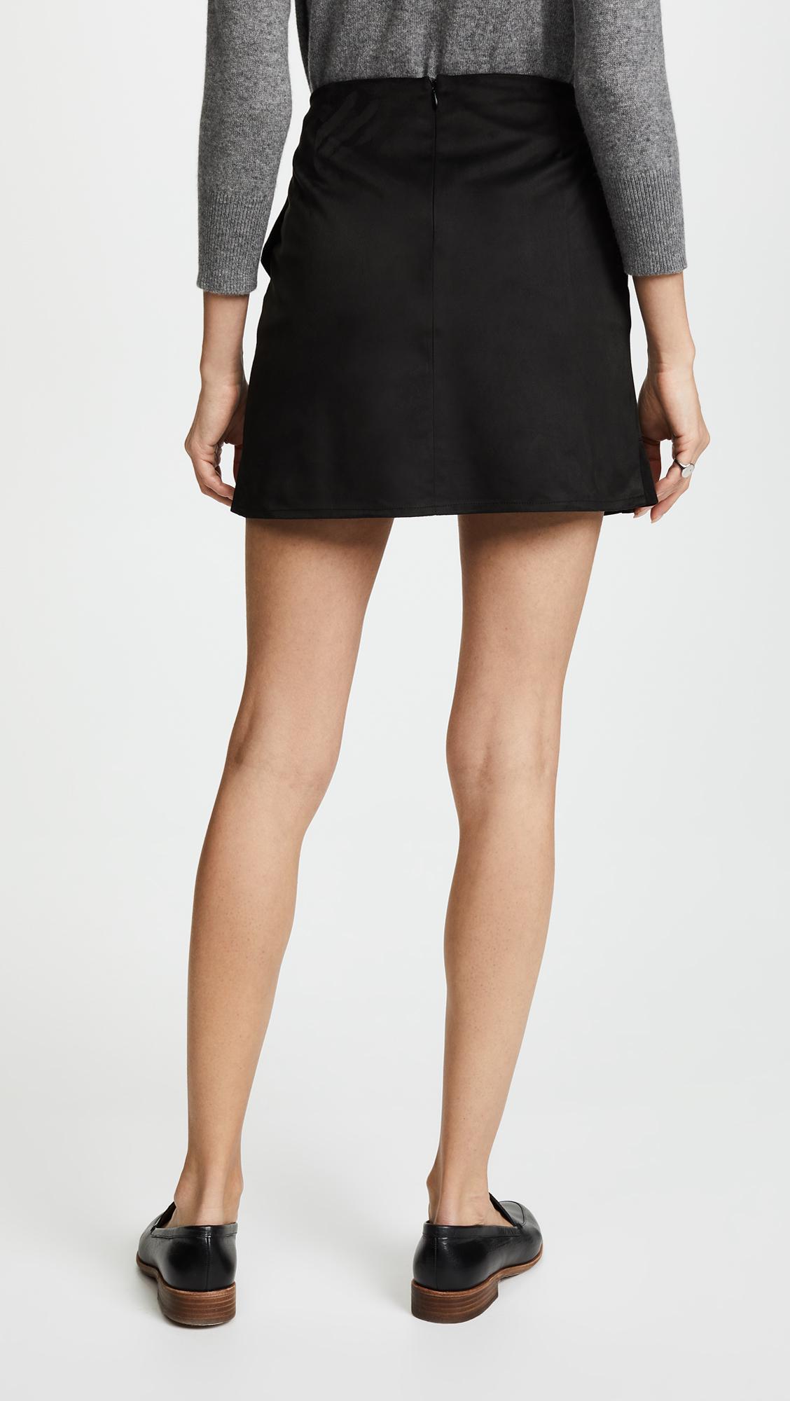 93725fad39 BB Dakota Jack By Khan Faux Suede Skirt in Black - Lyst
