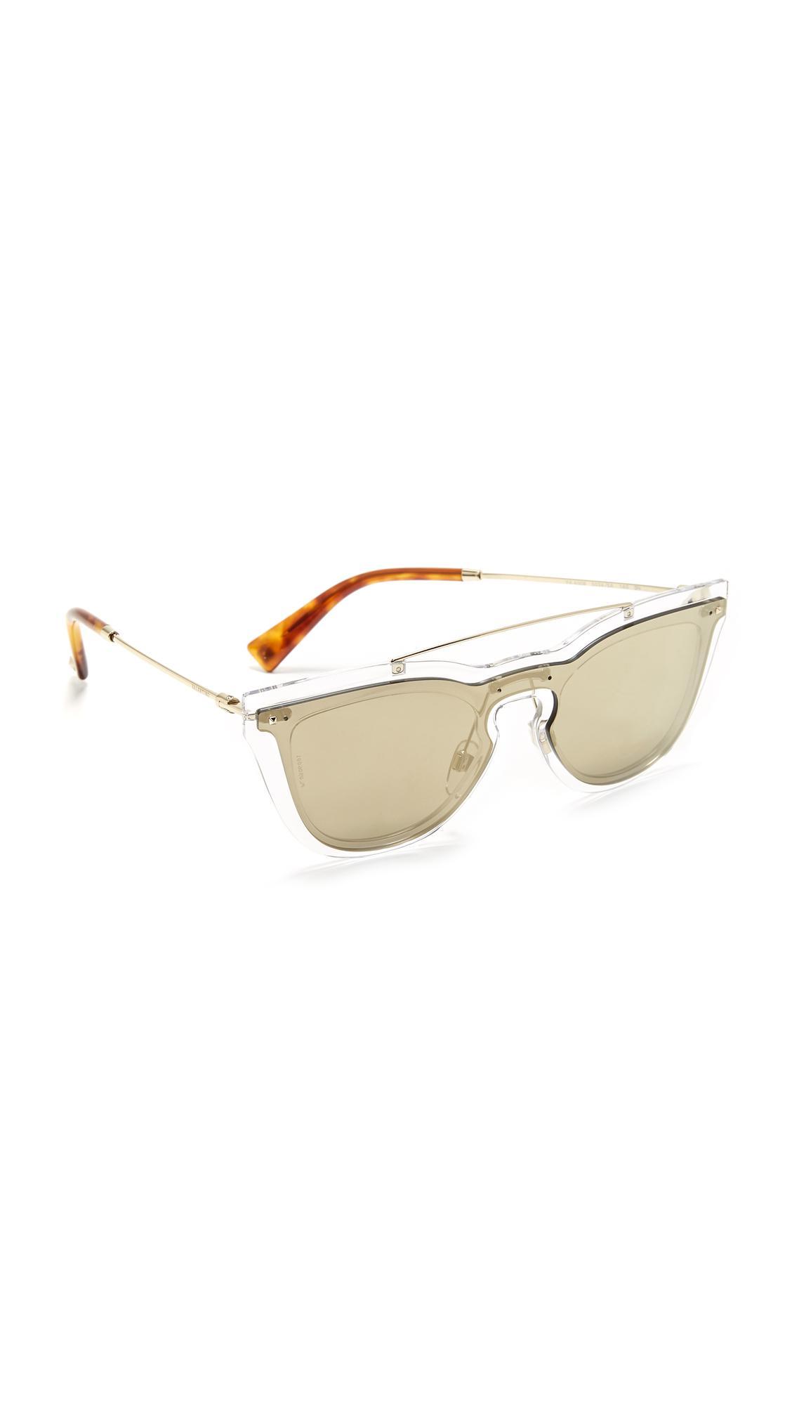 88cb12117448 Lyst - Valentino Glamgloss Sunglasses in Metallic
