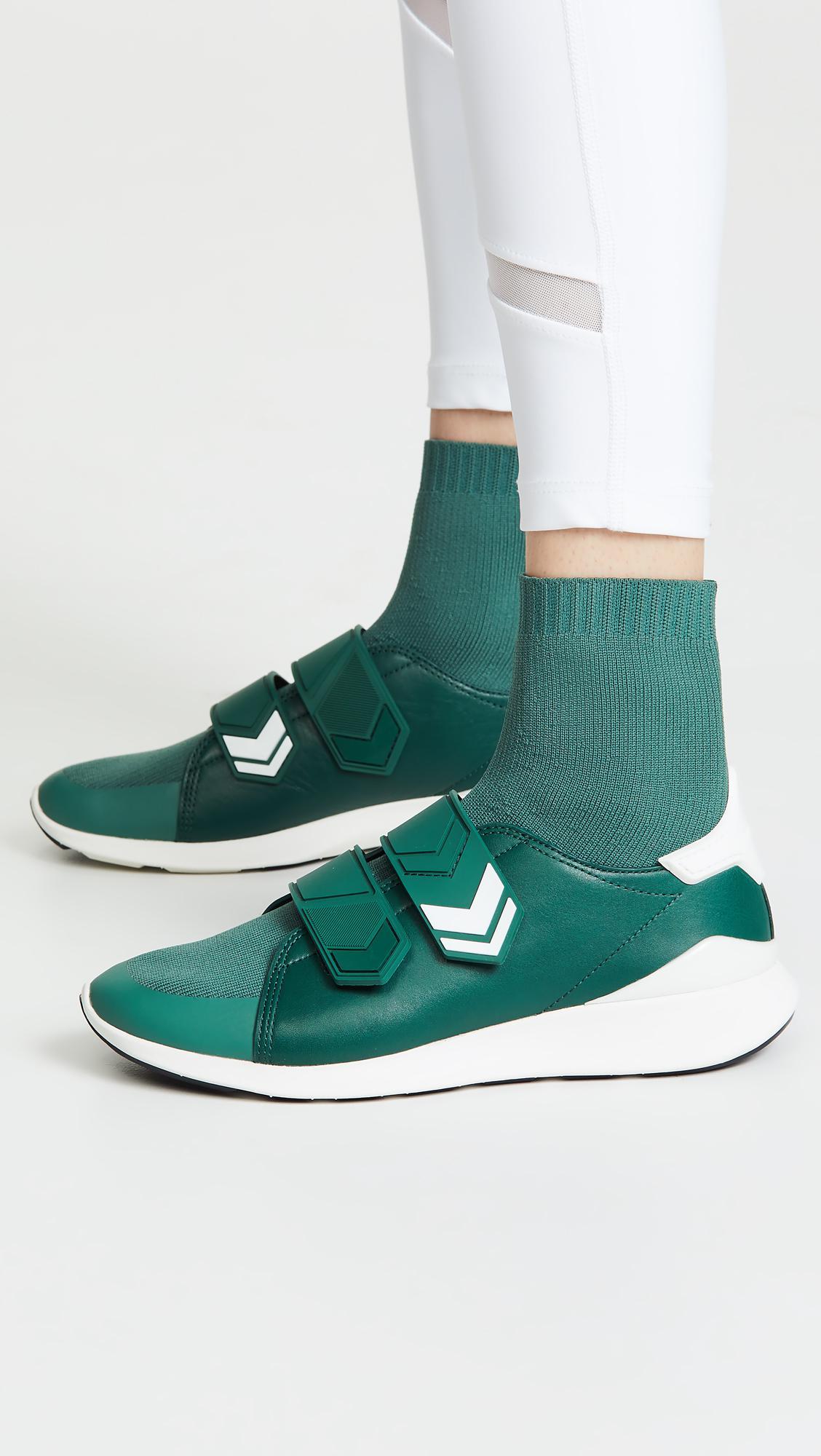 c41c400b86f4 Tory Sport Chevron Strap Sock Sneakers in Green - Lyst