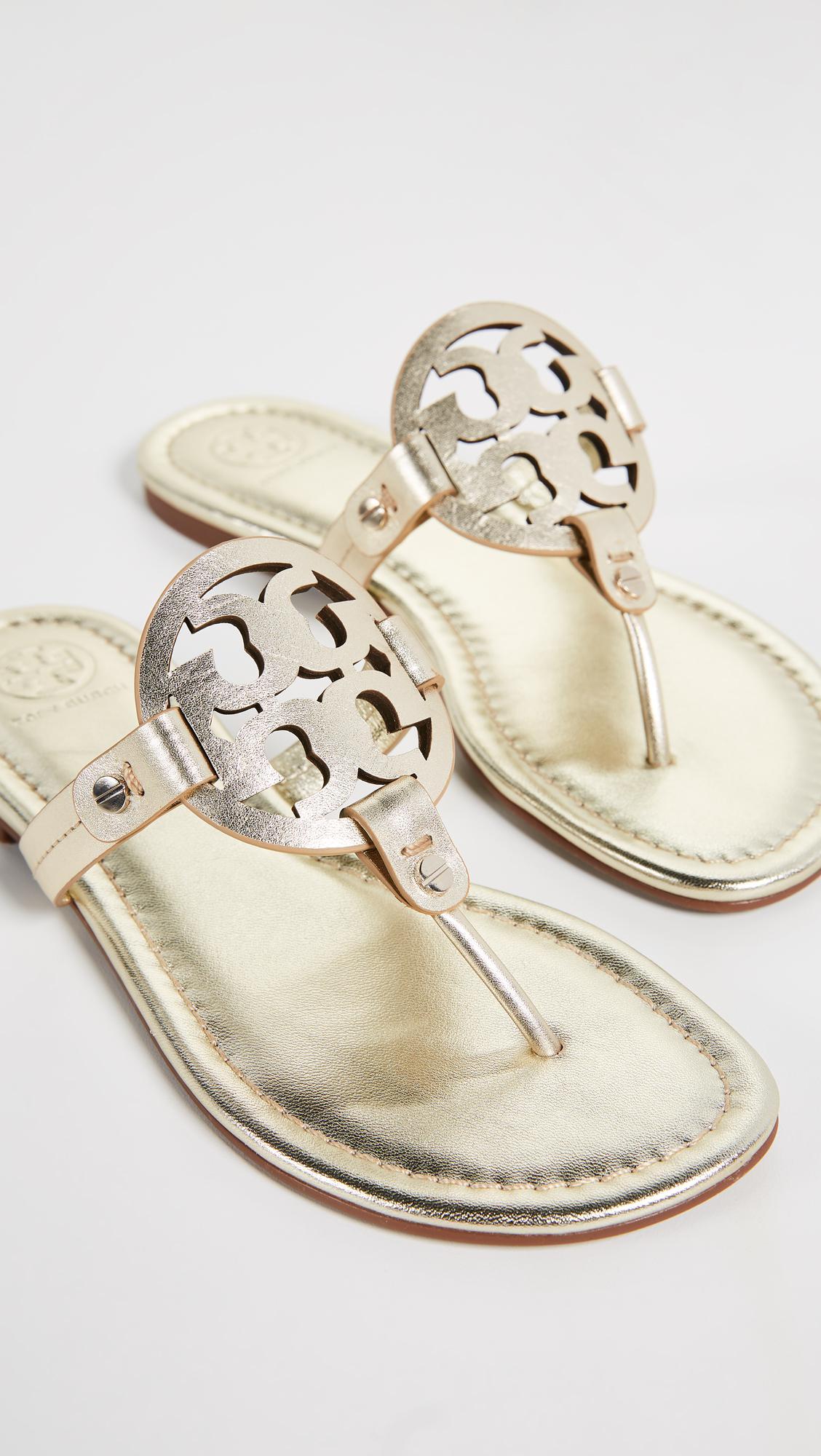 6bc99ee41d7e8d Lyst - Tory Burch Miller Thong Sandals - Save 15%